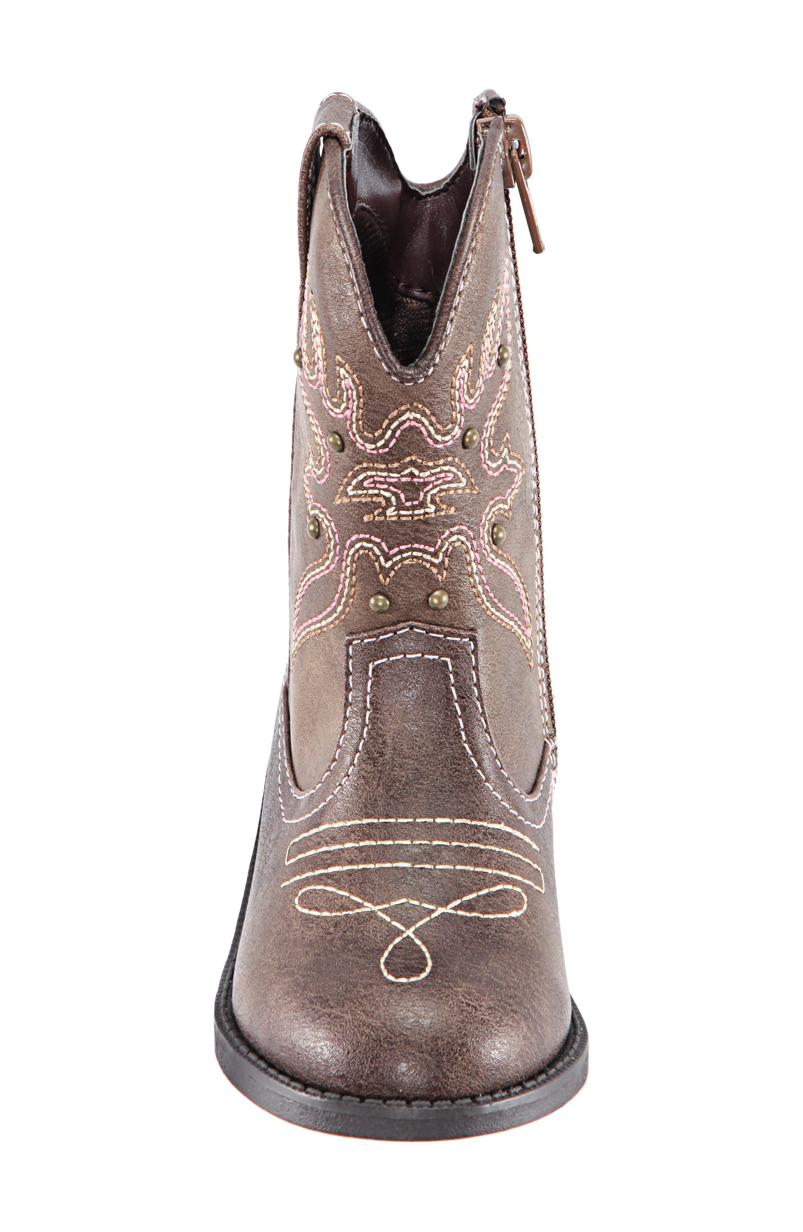 Mirabele Cowboy Boot,                             Alternate thumbnail 4, color,                             BROWN