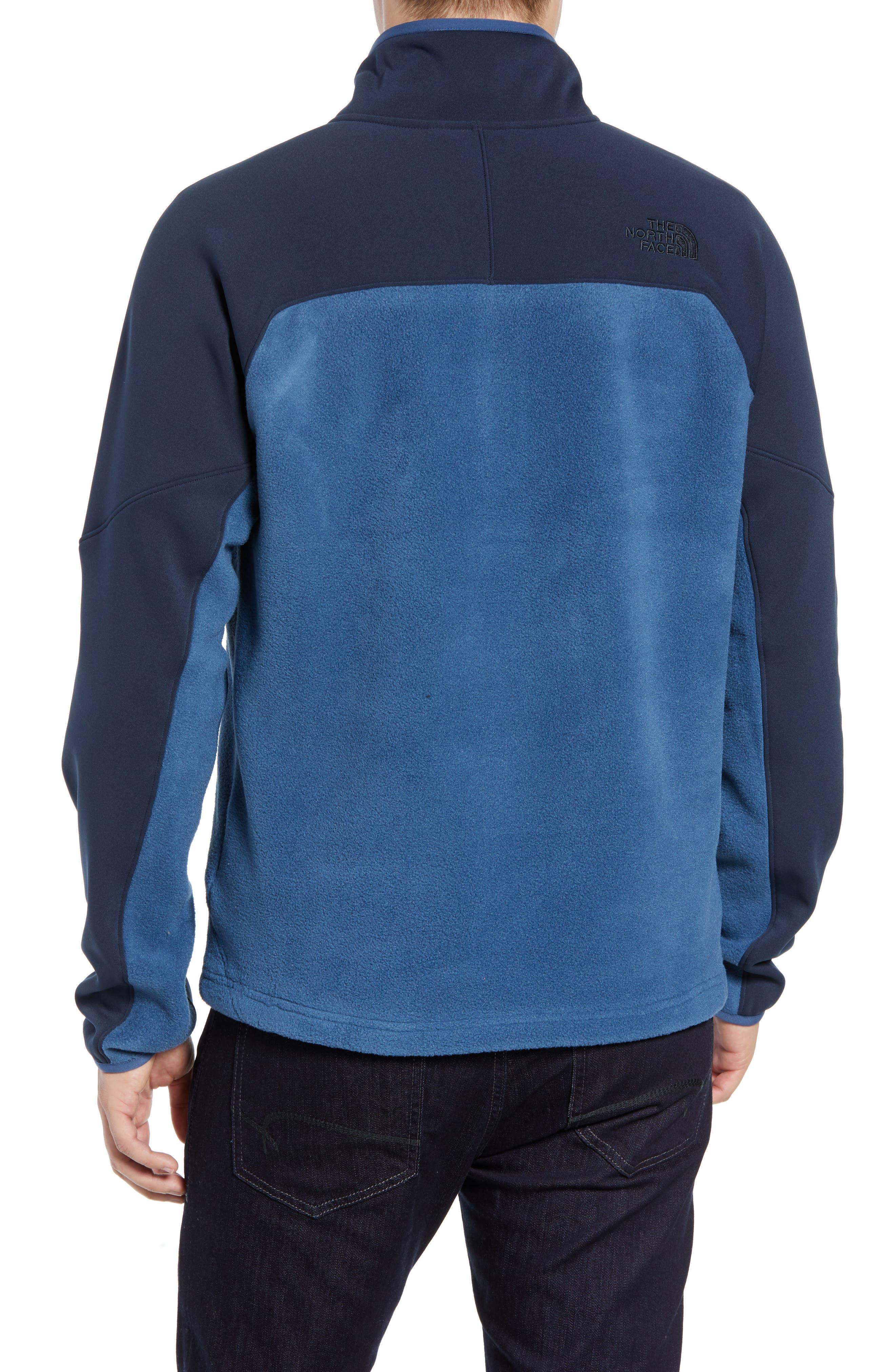 Tolmiepeak Hybrid Half-Zip Pullover,                             Alternate thumbnail 2, color,                             SHADY BLUE/ URBAN NAVY