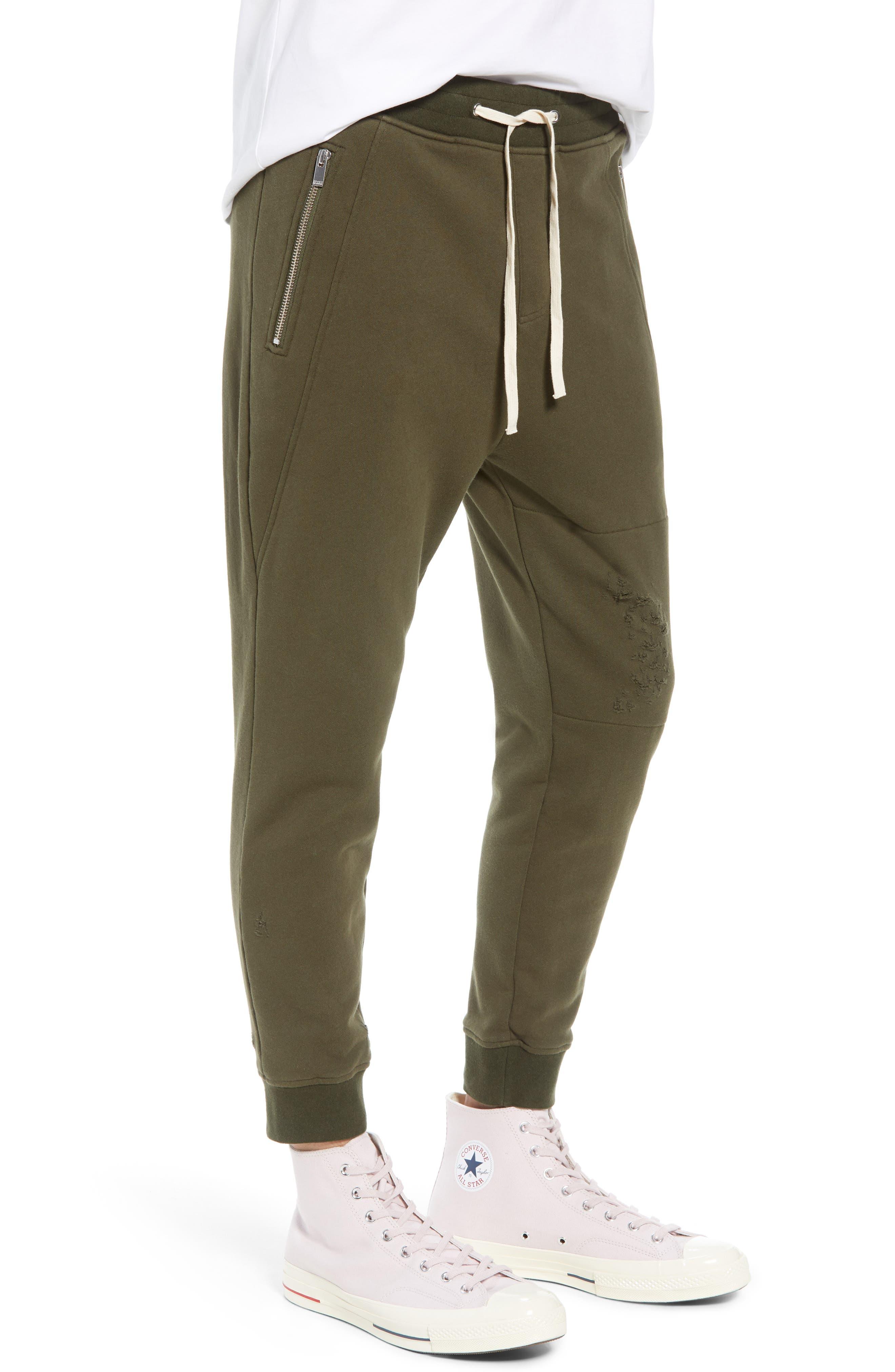 Regular Fit Sweatpants,                             Alternate thumbnail 3, color,                             KHAKI
