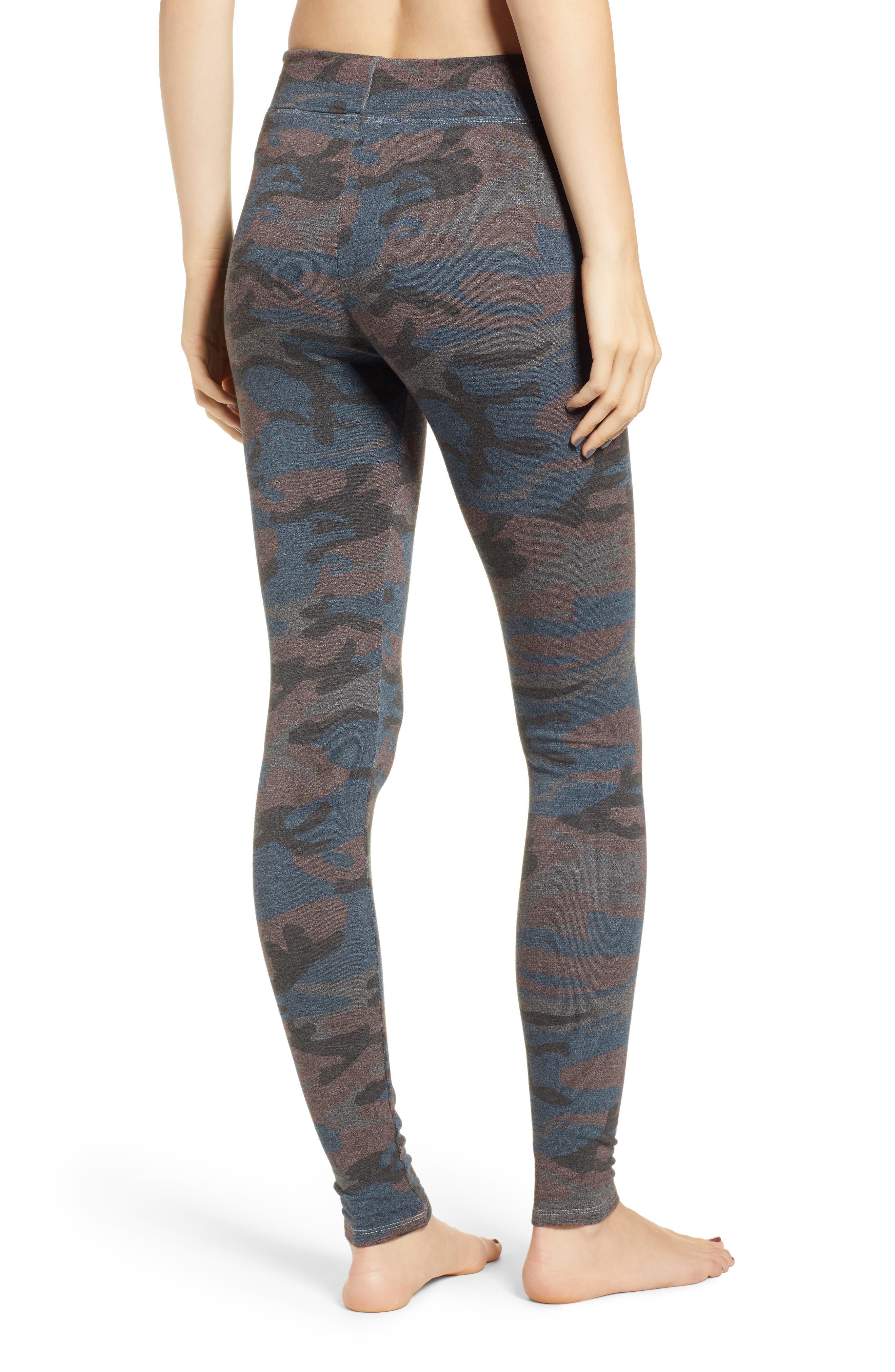 SUNDRY,                             Camo Yoga Pants,                             Alternate thumbnail 2, color,                             020