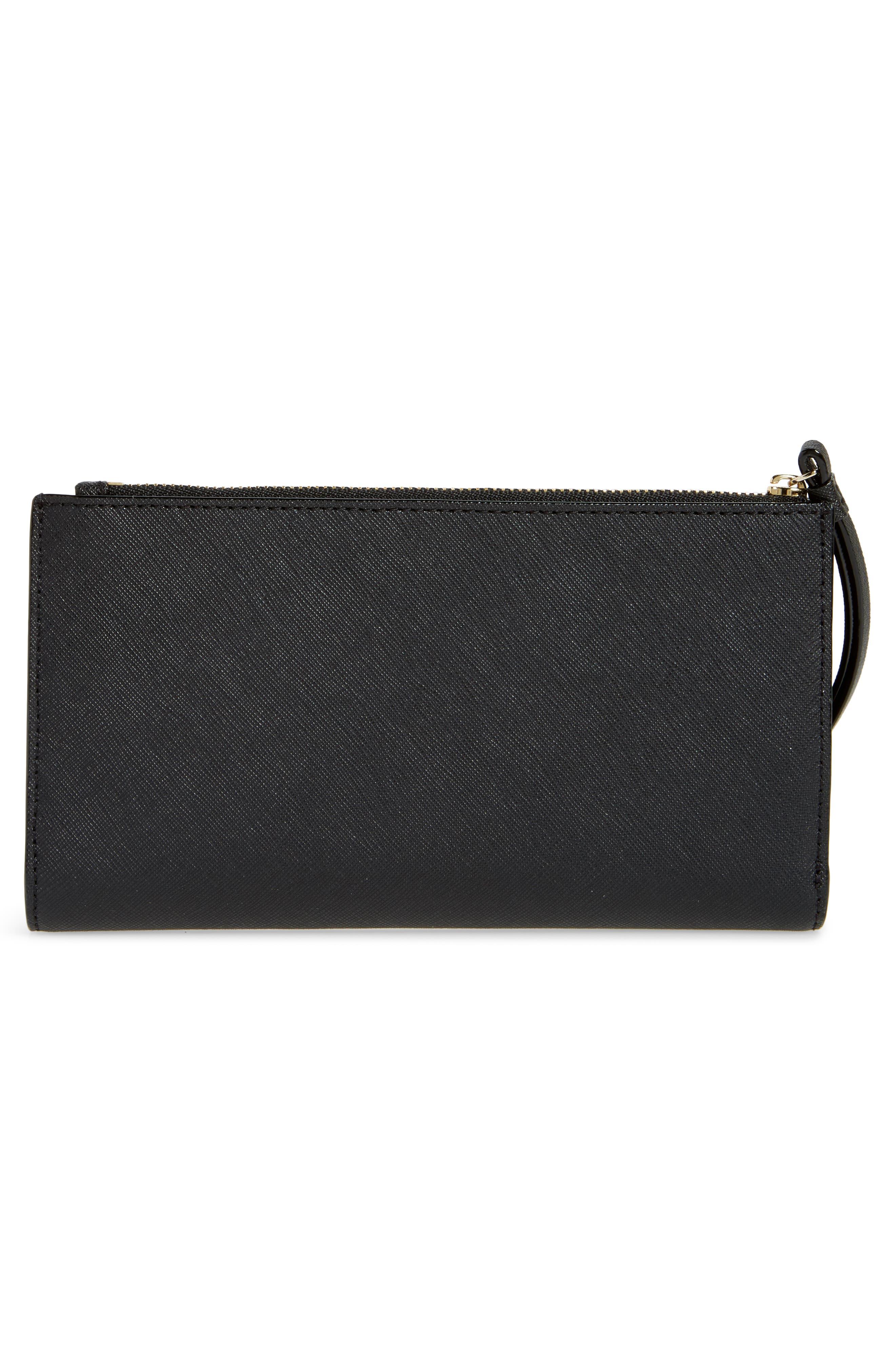 cameron street - eliza leather wallet,                             Alternate thumbnail 3, color,                             BLACK