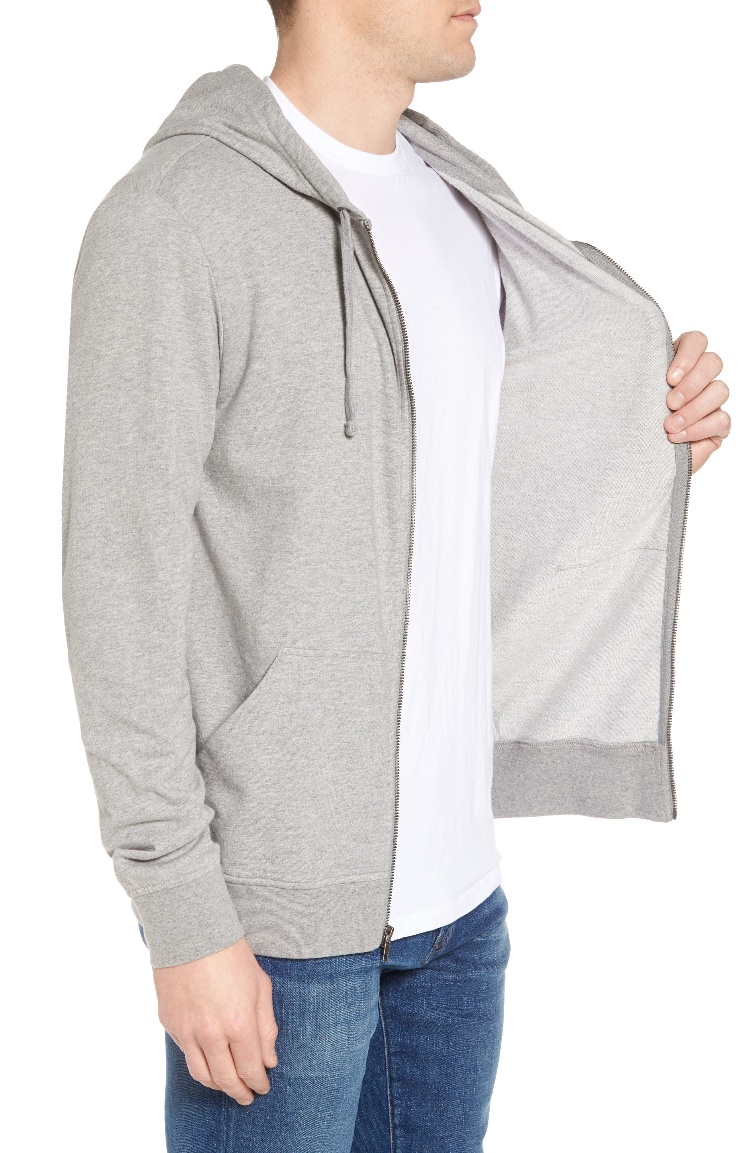 Fitz Roy Frostbite PolyCycle<sup>®</sup> Full Zip Hoodie,                             Alternate thumbnail 3, color,                             FEATHER GREY