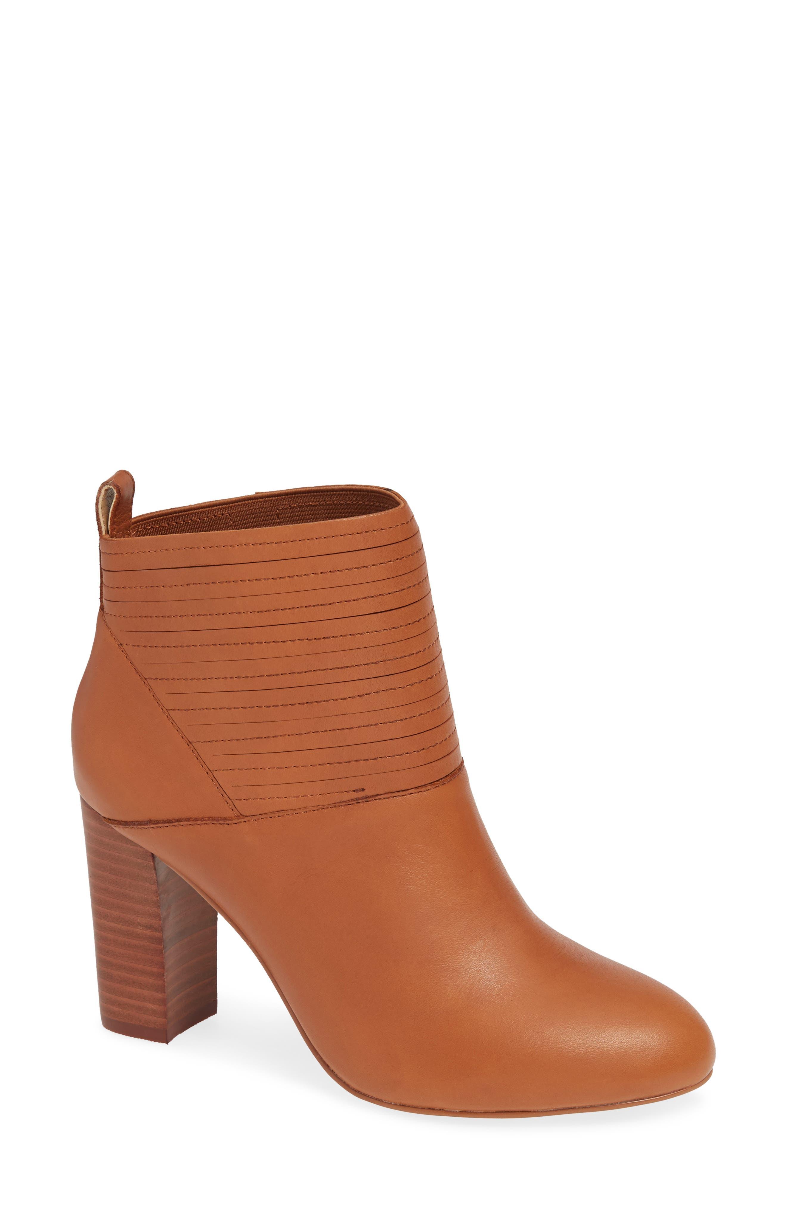 M4D3 Salama Block Heel Bootie, Brown
