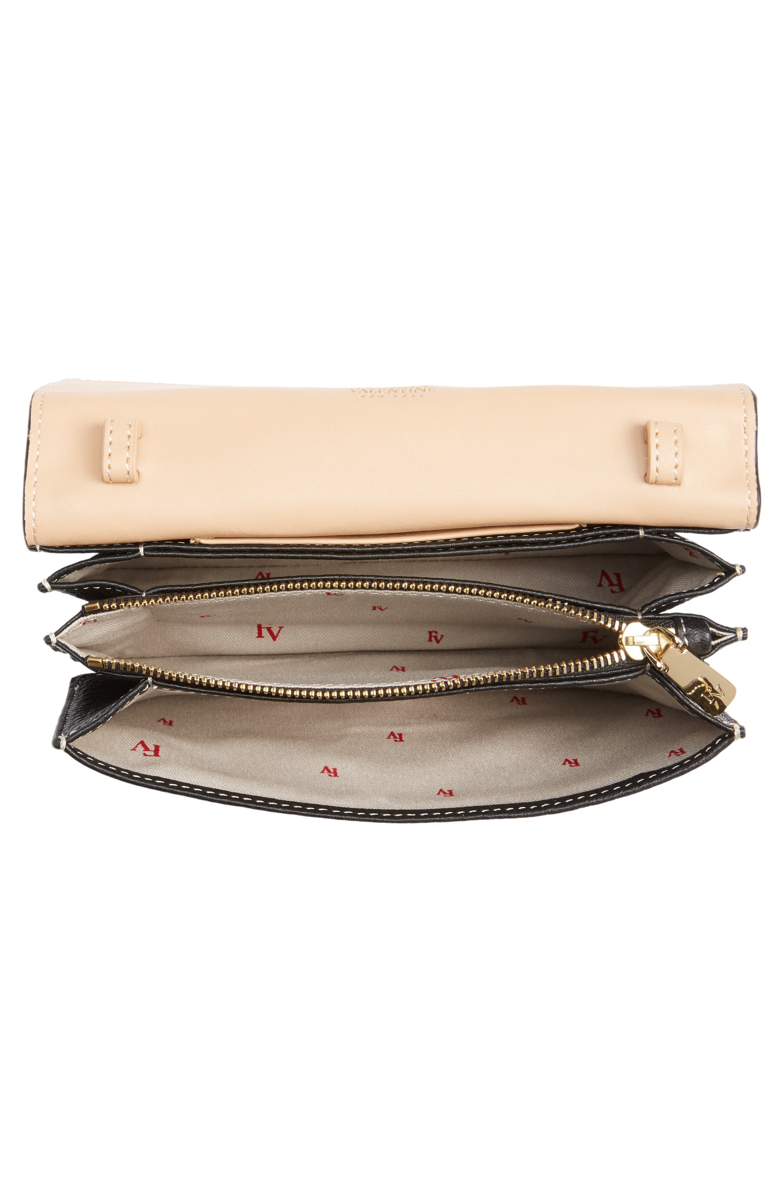 Calfskin Leather Crossbody Wallet,                             Alternate thumbnail 4, color,                             001