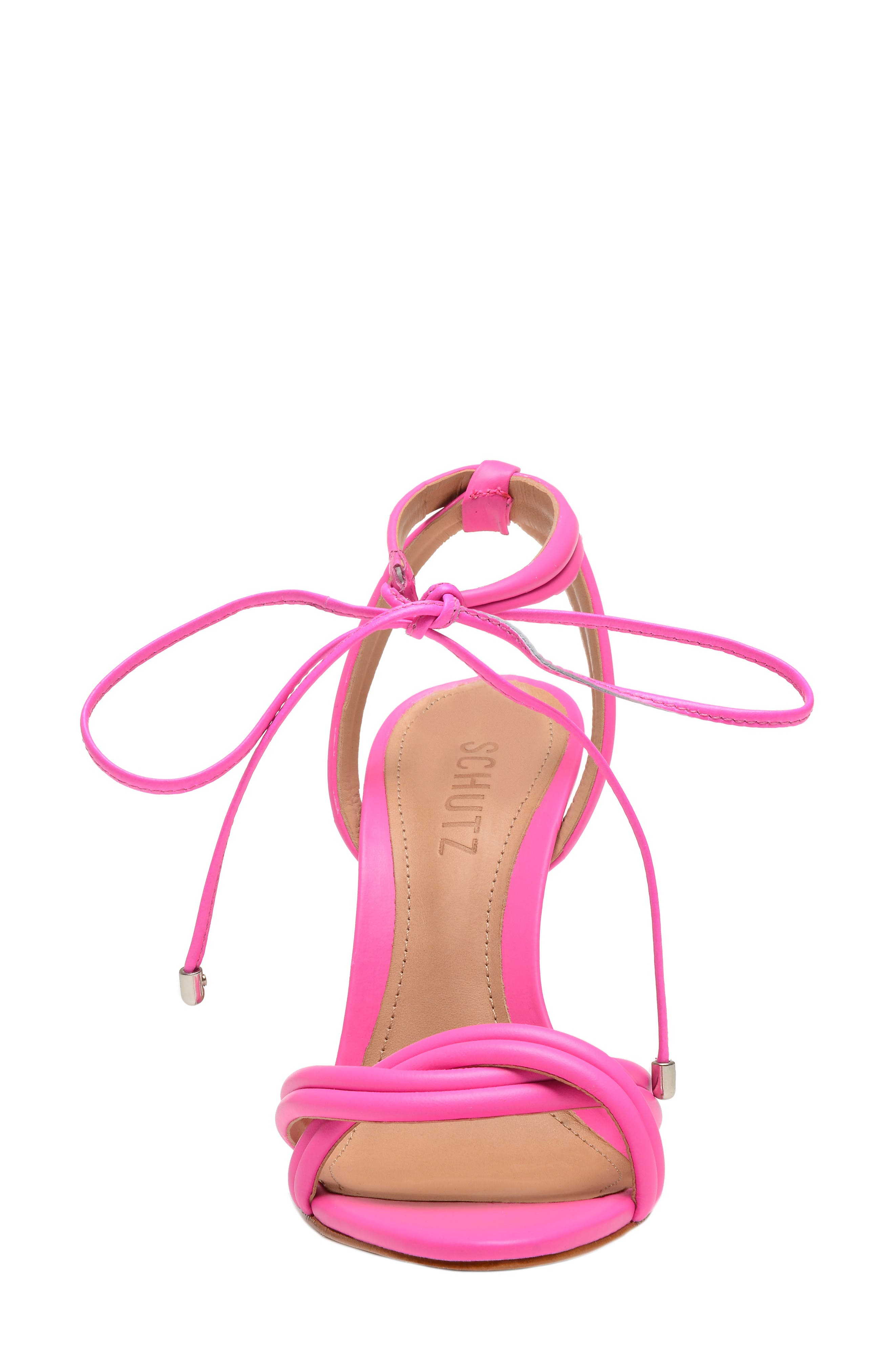 Yvi Strappy Sandal,                             Alternate thumbnail 4, color,                             NEON PINK