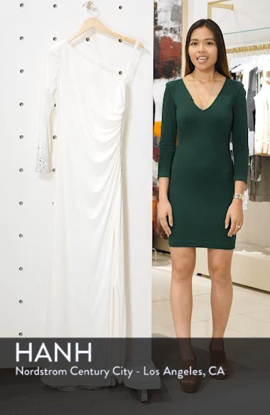 One-Sleeve Side Ruched Evening Dress, sales video thumbnail