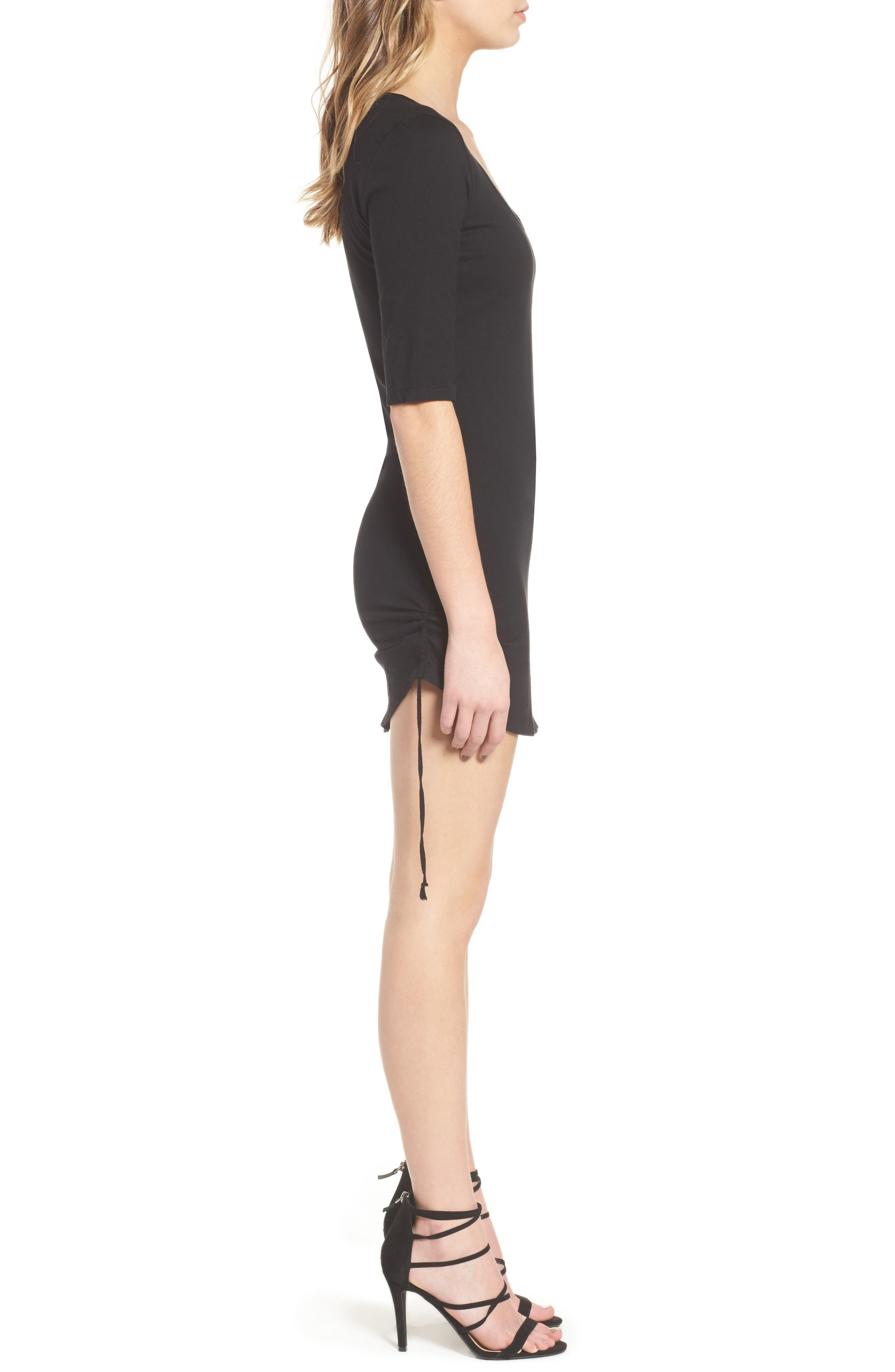Ruched Body-Con Dress,                             Alternate thumbnail 5, color,