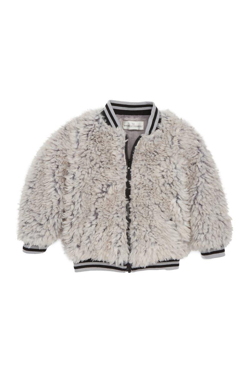 2e606ace3 Widgeon Happy Lil Faux Fur Varsity Jacket (Toddler Girls