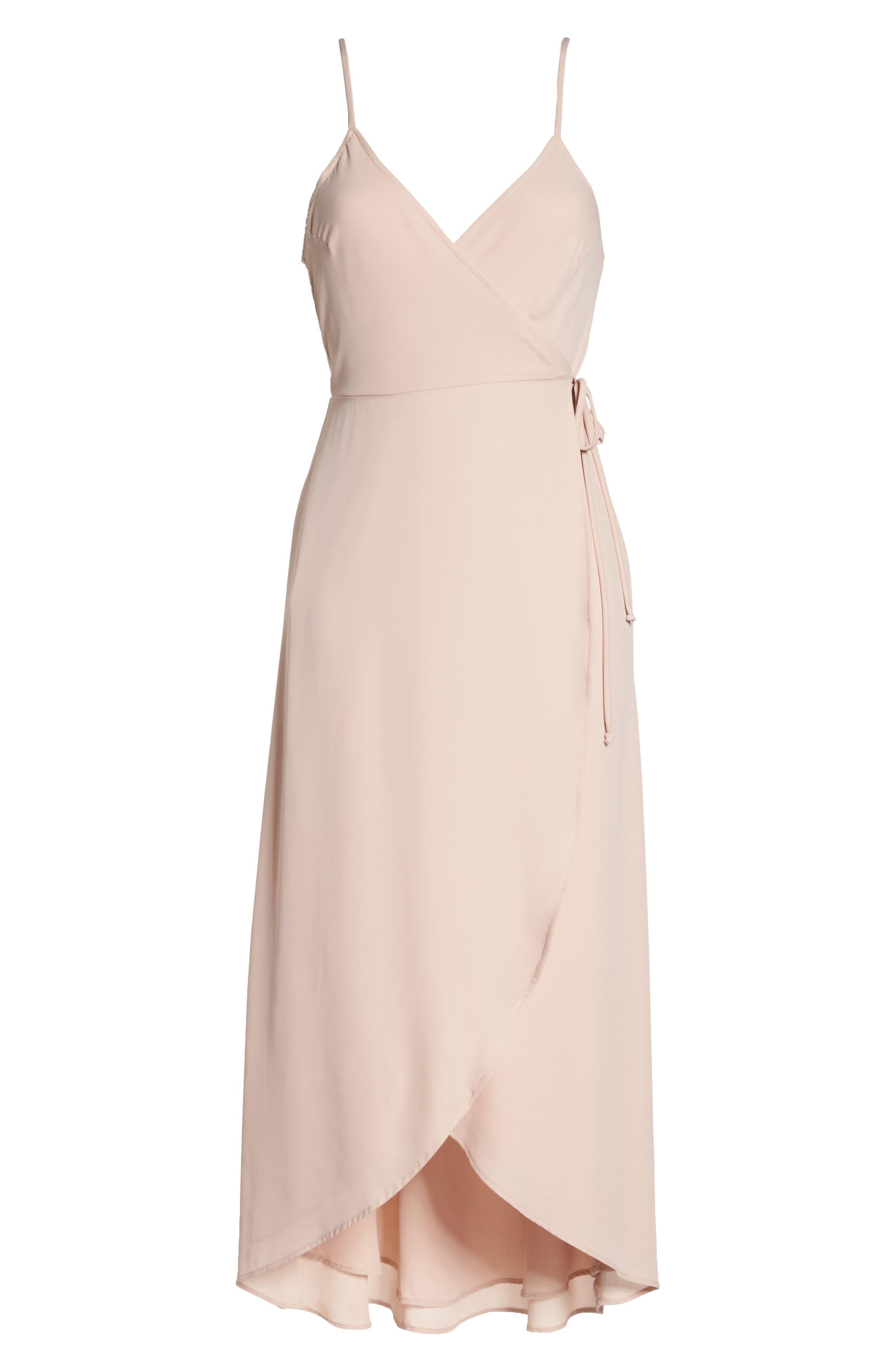 SHOW ME YOUR MUMU, Meghan Wrap Dress, Alternate thumbnail 7, color, DUSTY BLUSH