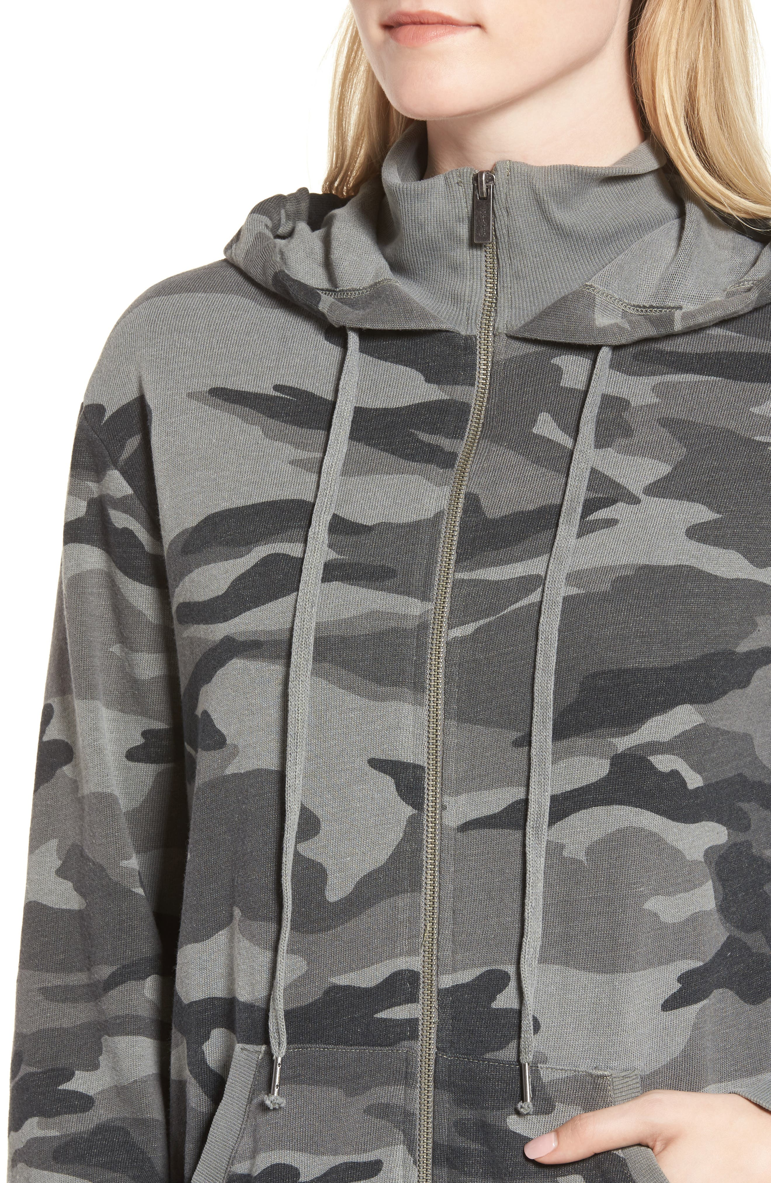 French Terry Camo Sweatshirt,                             Alternate thumbnail 4, color,                             301