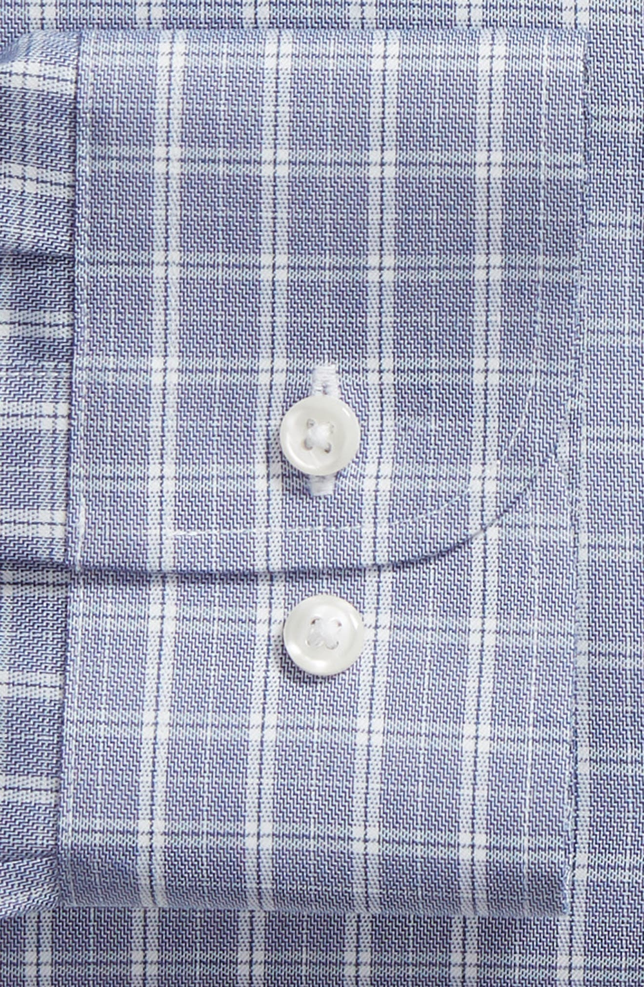 Trim Fit Non-Iron Check Dress Shirt,                             Alternate thumbnail 6, color,                             050