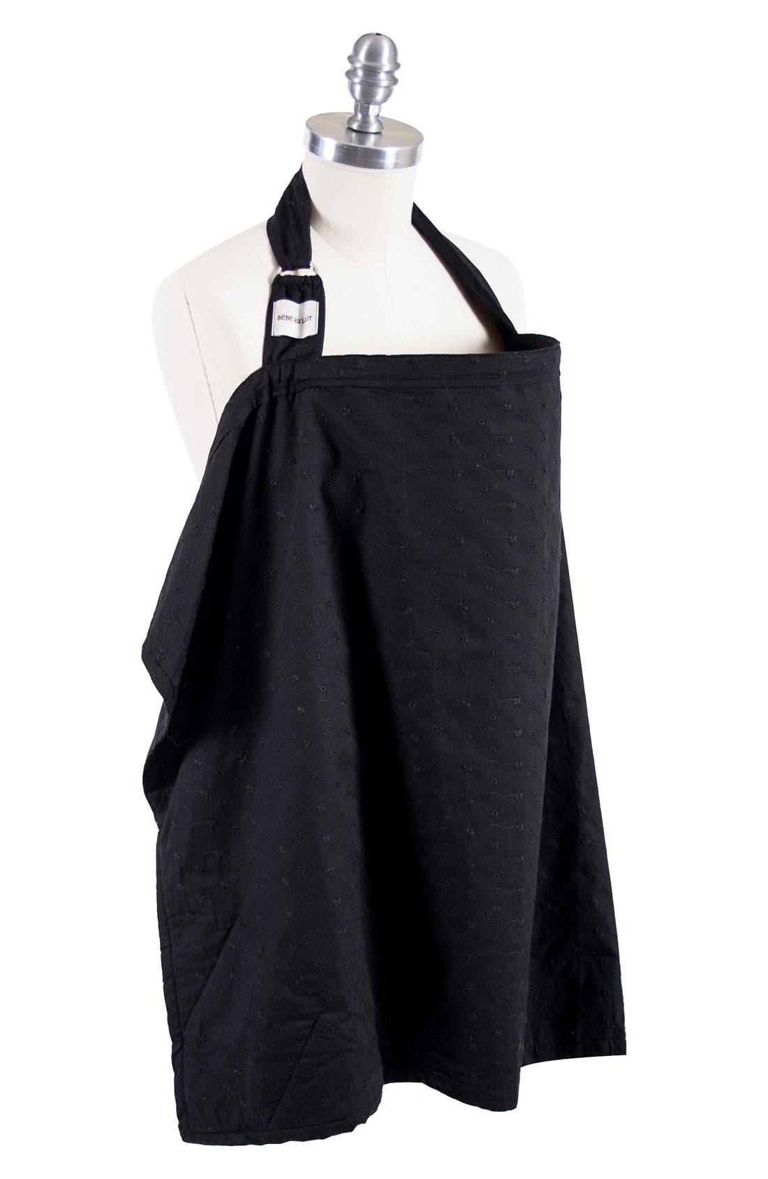Print Nursing Cover,                         Main,                         color, BLACK EYELET
