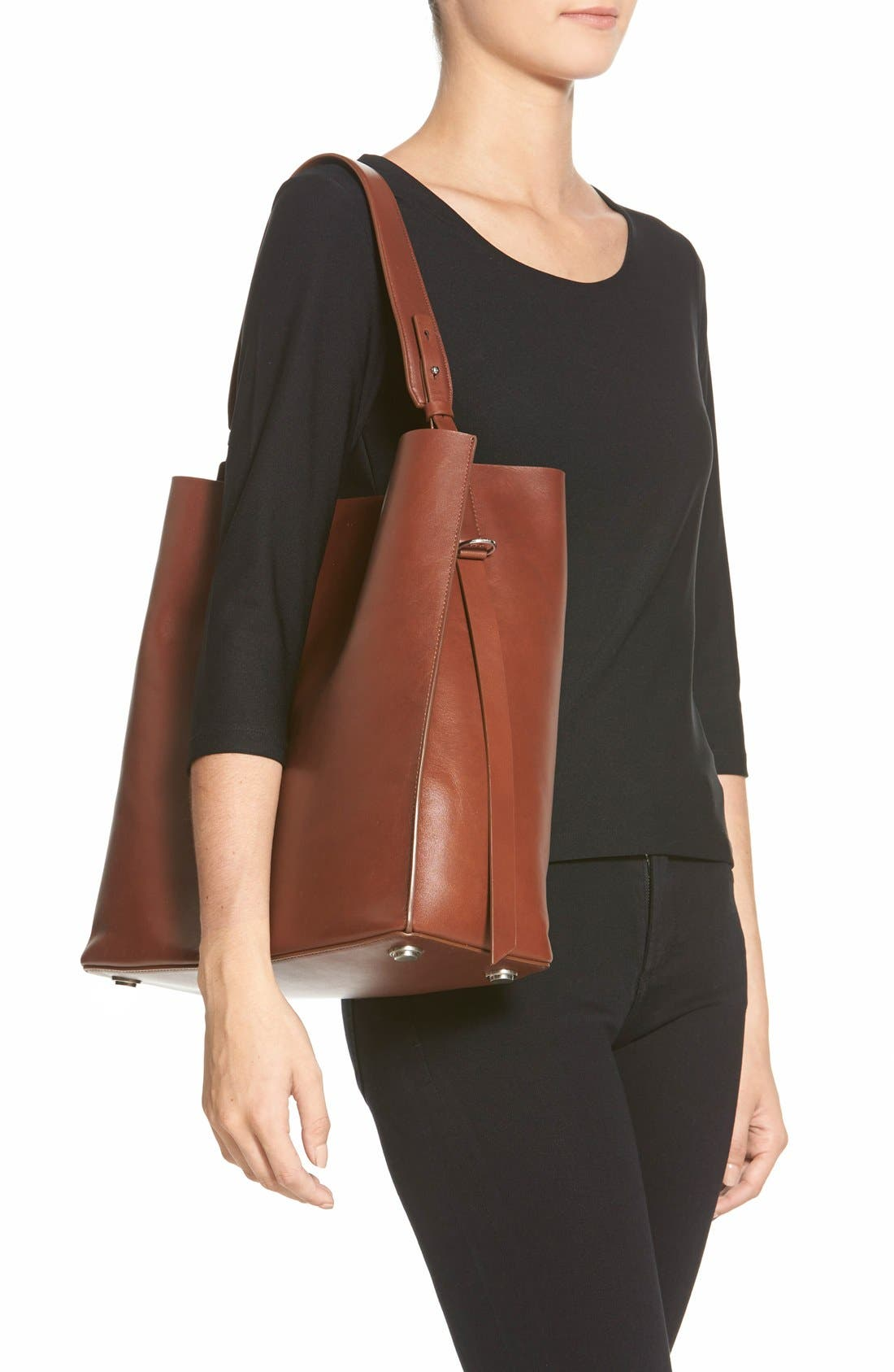 'Paradise North/South' Calfskin Leather Tote,                             Alternate thumbnail 16, color,