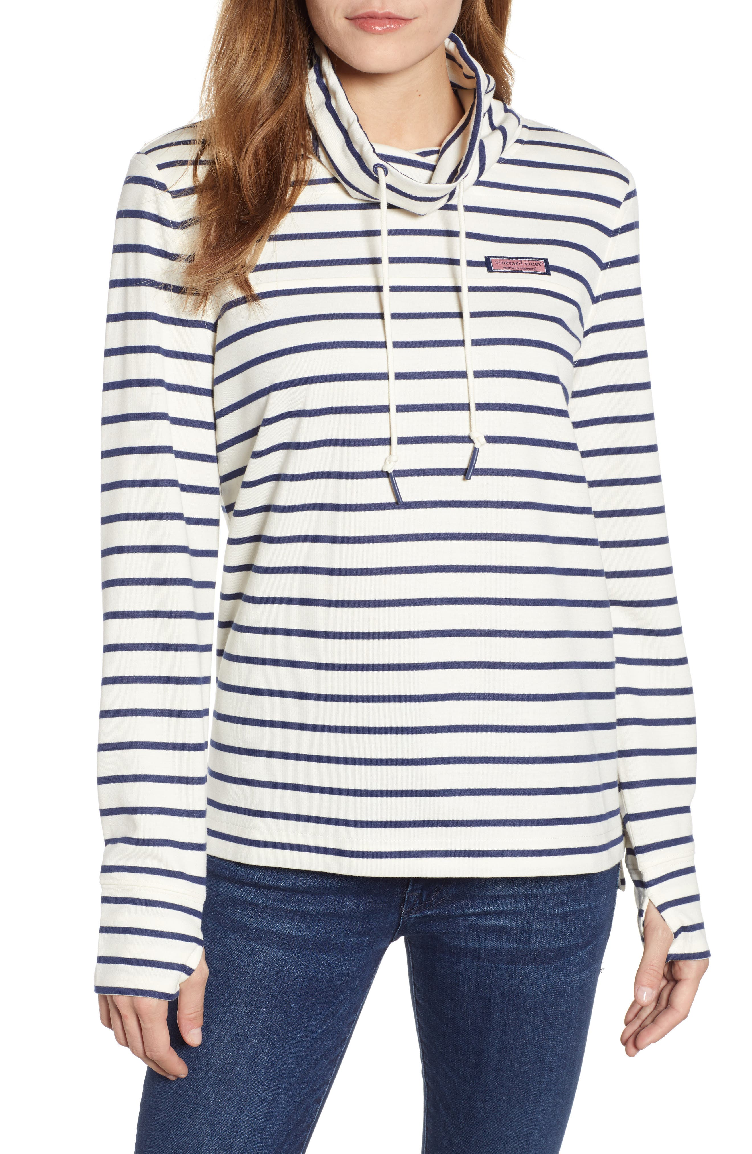 Relaxed Fit Stripe Pullover, Main, color, 907