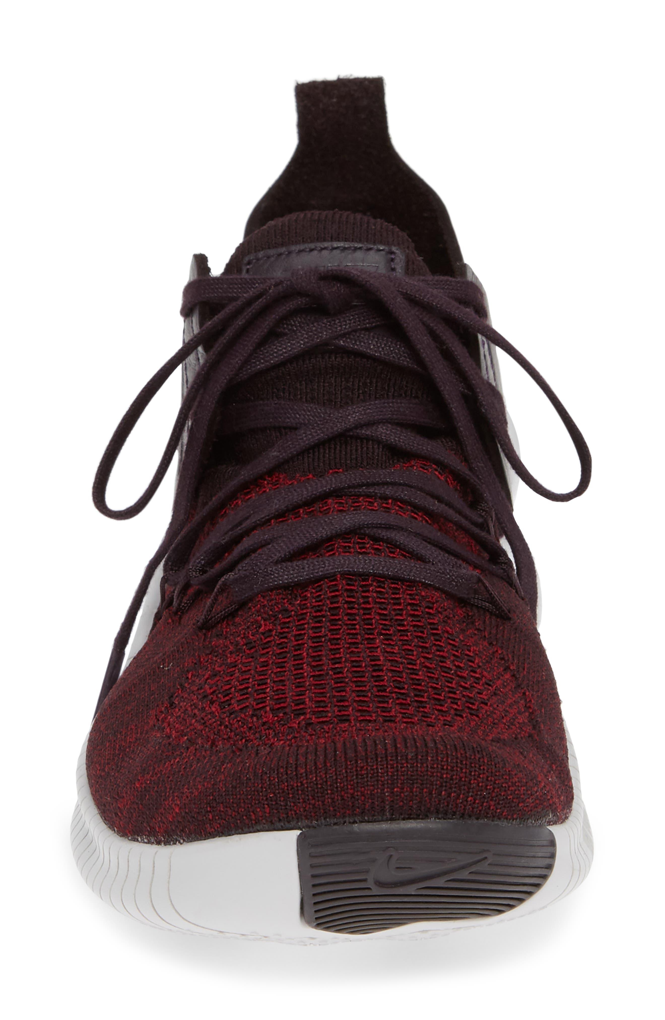 Free TR Flyknit 3 Training Shoe,                             Alternate thumbnail 4, color,                             BURGUNDY ASH/ VAST GREY