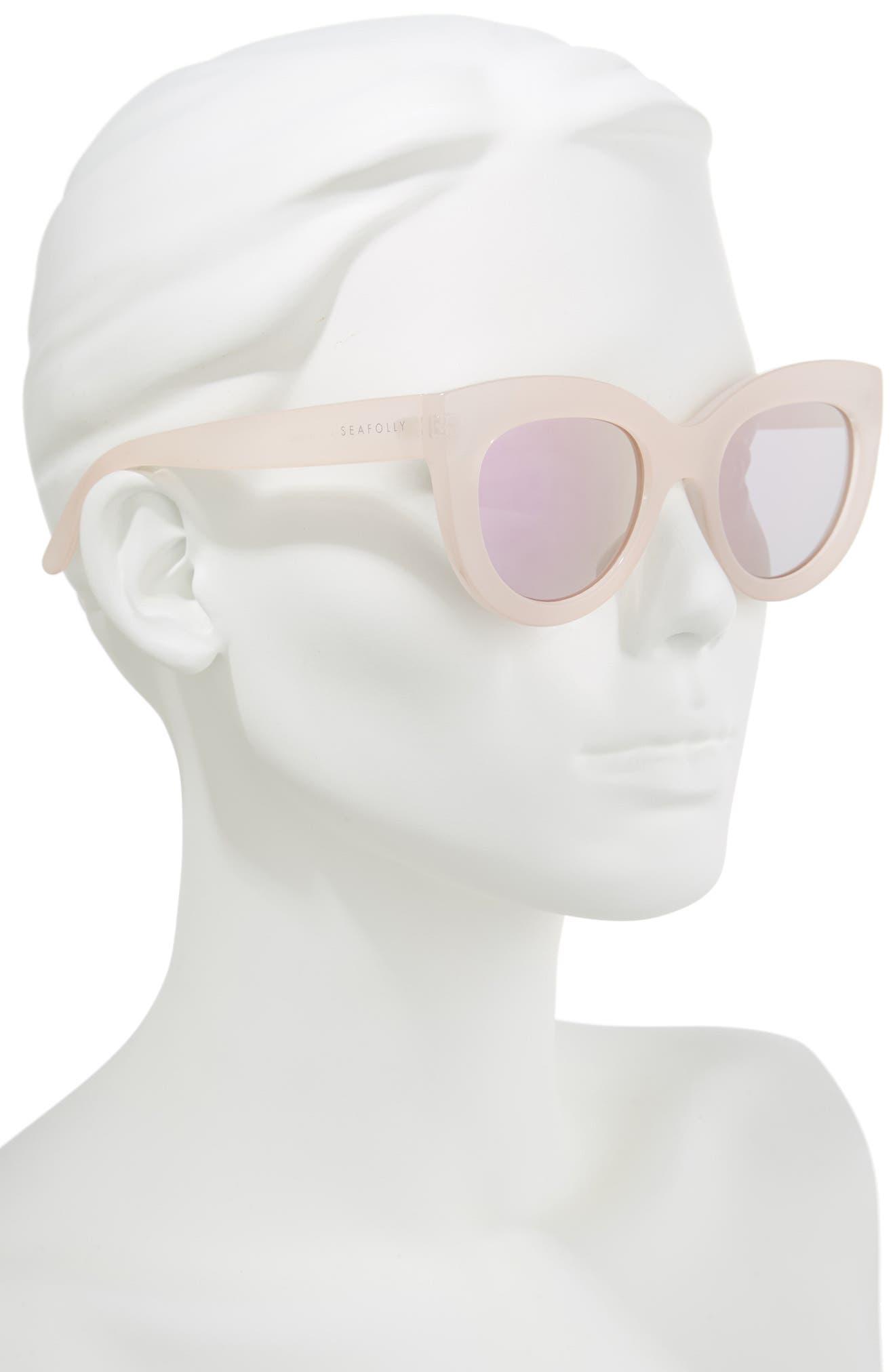 Torola V2 51mm Cat Eye Sunglasses,                             Alternate thumbnail 2, color,                             BLOSSOM