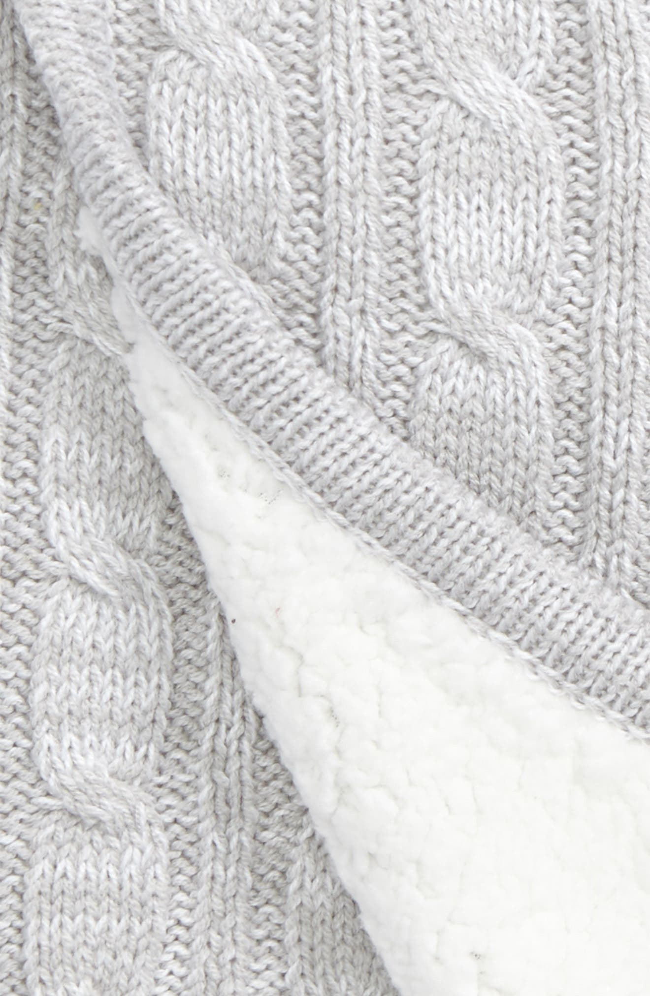 Cable Knit Blanket,                             Alternate thumbnail 2, color,                             050