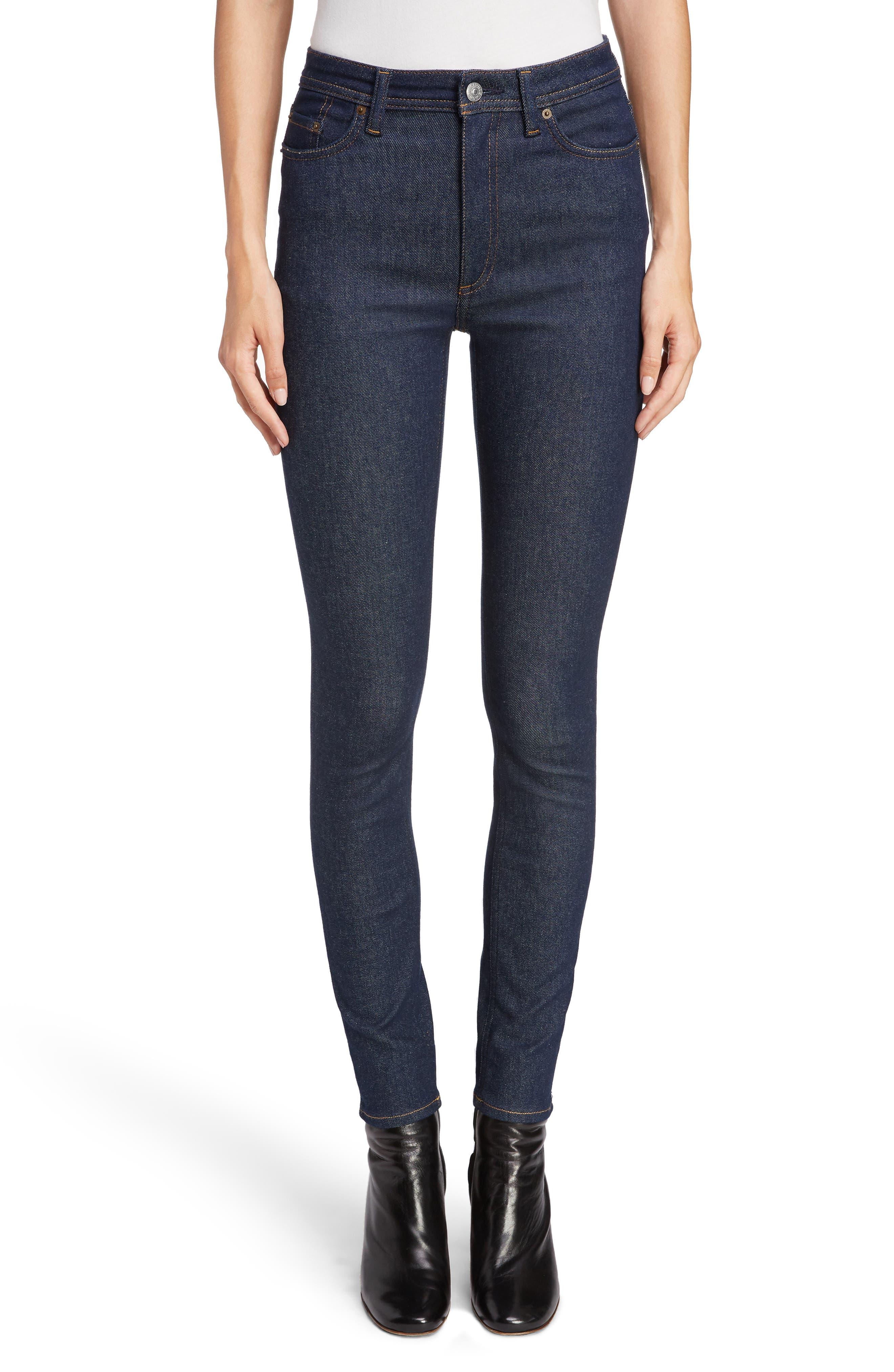 Peg High Waist Skinny Jeans in Indigo