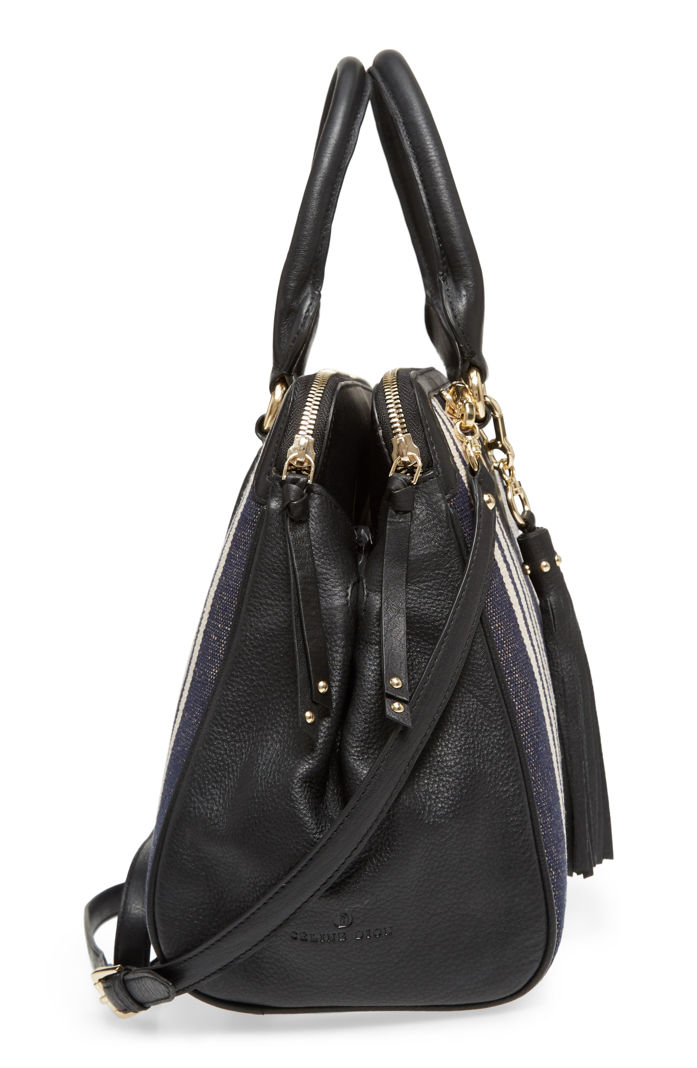 Céline Dion Forte Canvas Satchel,                             Alternate thumbnail 5, color,