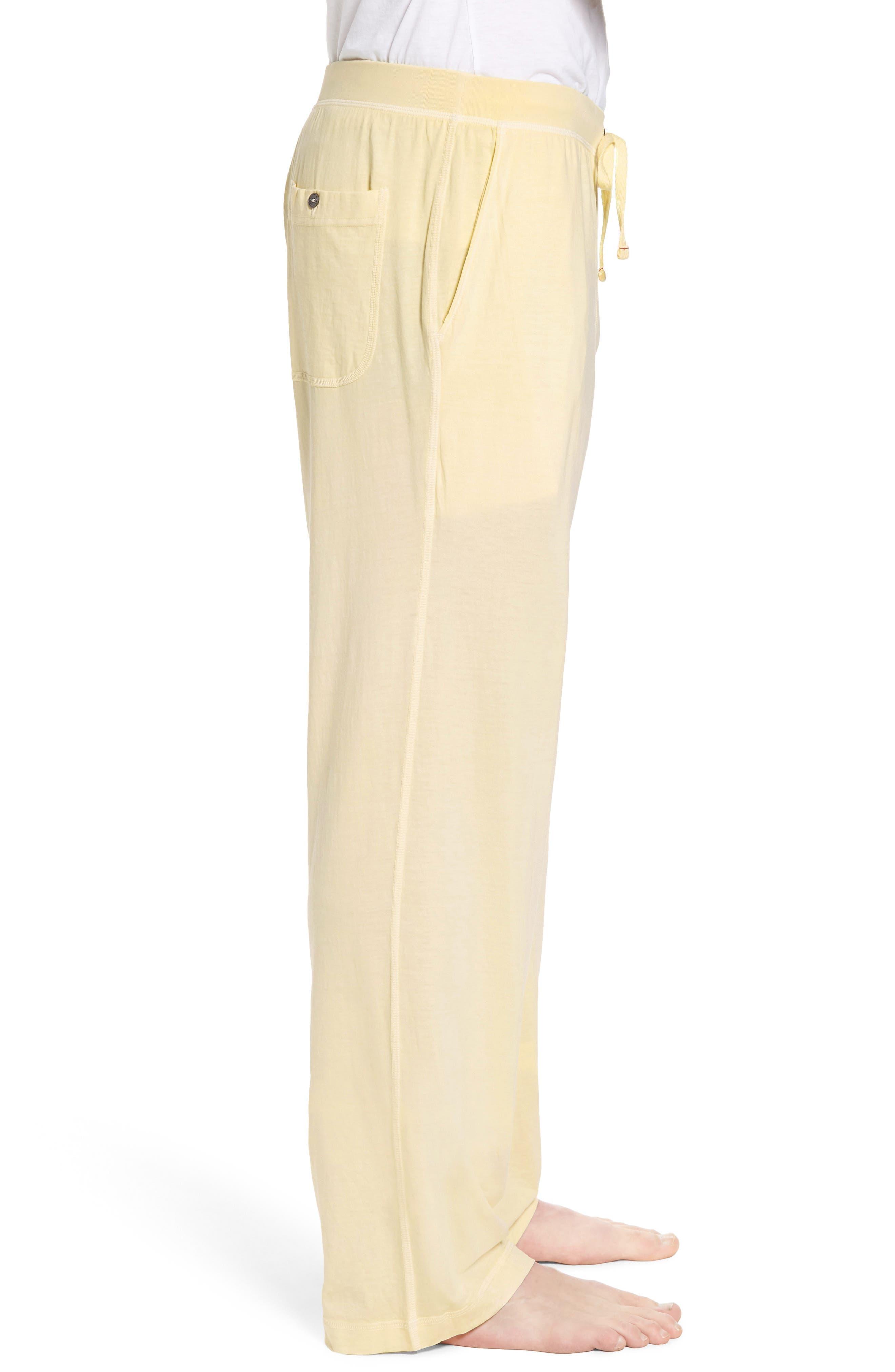Peruvian Pima Cotton Lounge Pants,                             Alternate thumbnail 3, color,                             YELLOW