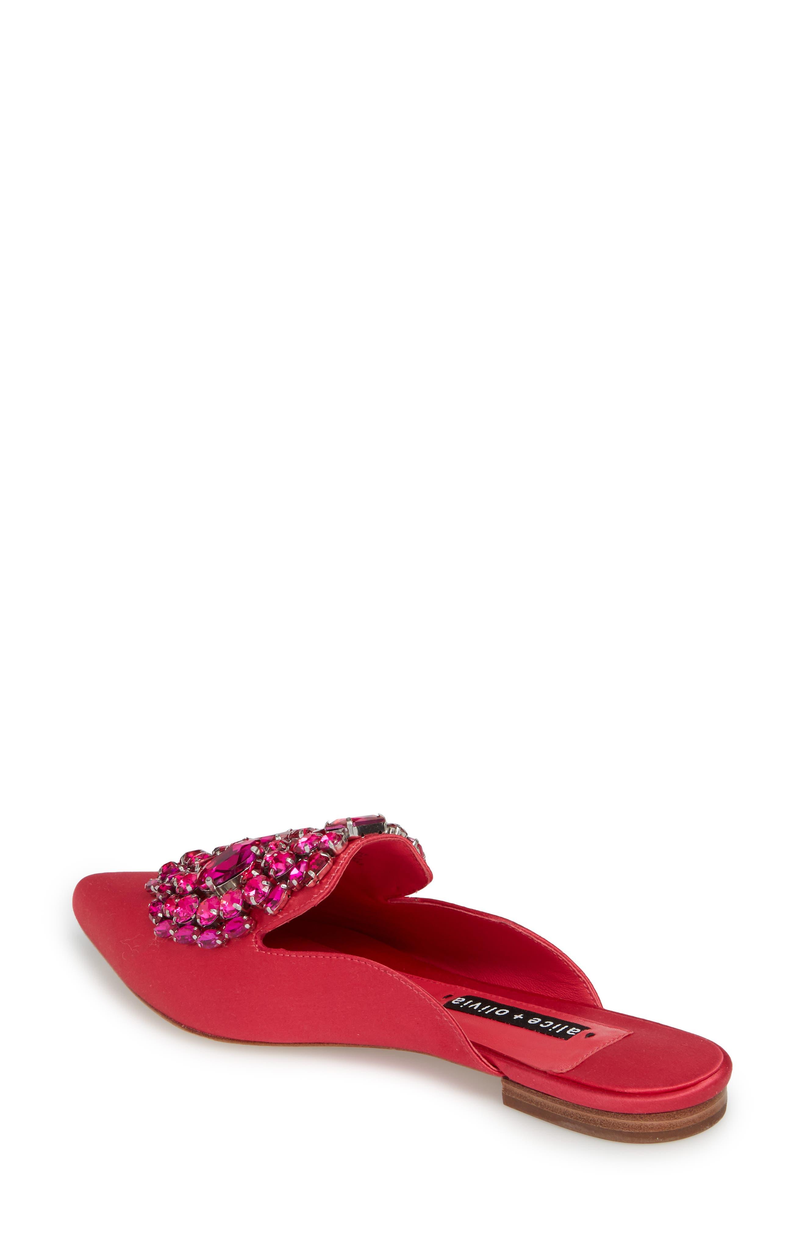 Lilly Crystal Embellished Loafer Mule,                             Alternate thumbnail 3, color,