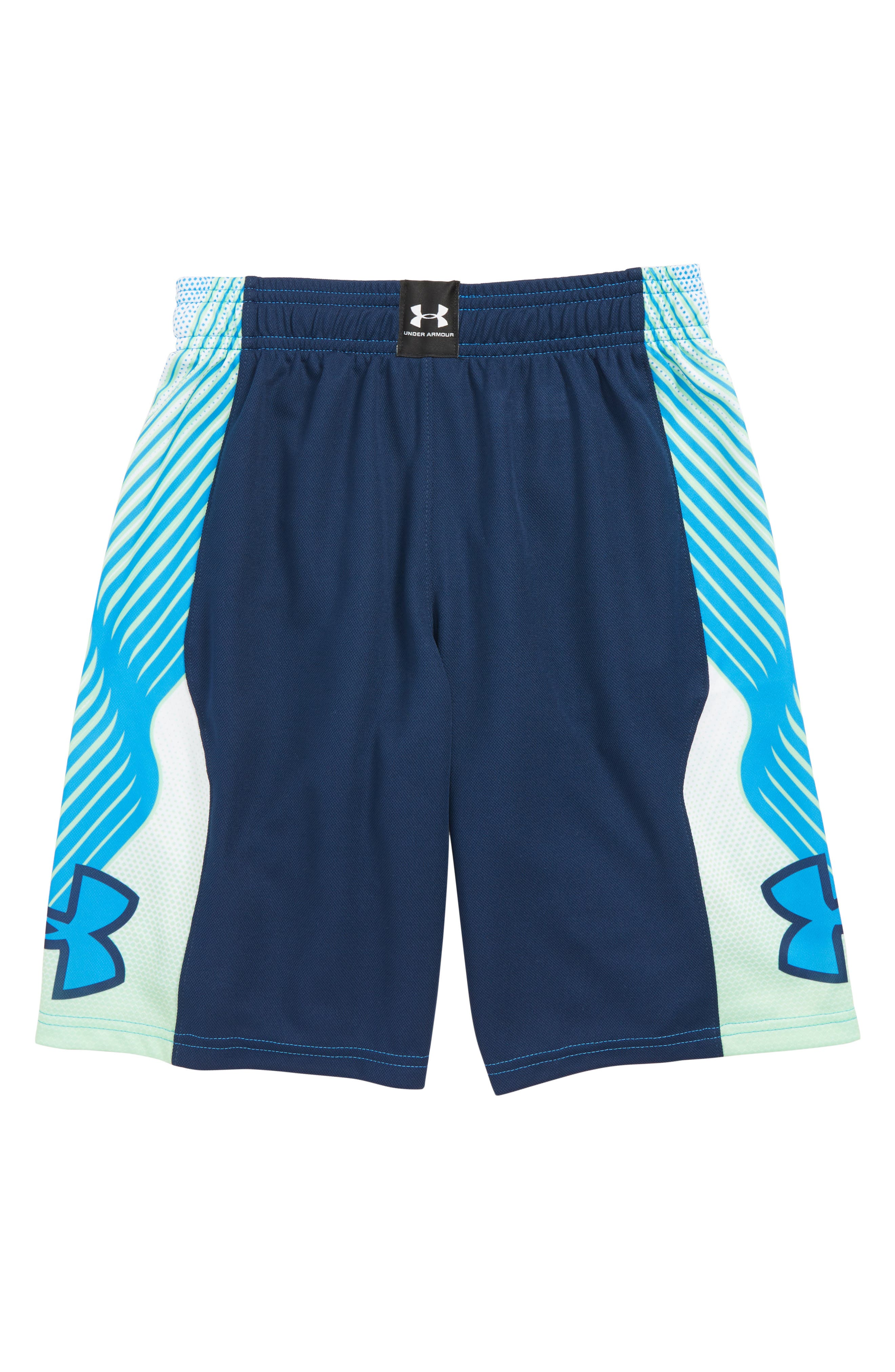 Space the Floor HeatGear<sup>®</sup> Shorts,                             Alternate thumbnail 2, color,                             BLUE CIRCUIT/ ACADEMY