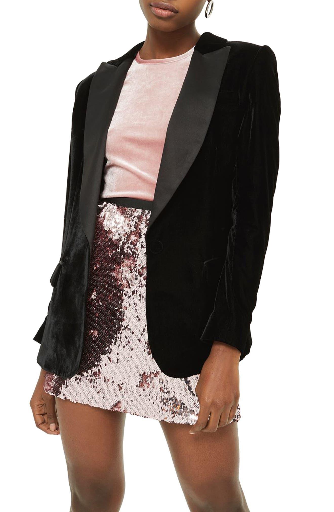 Sequin Miniskirt,                         Main,                         color, 680