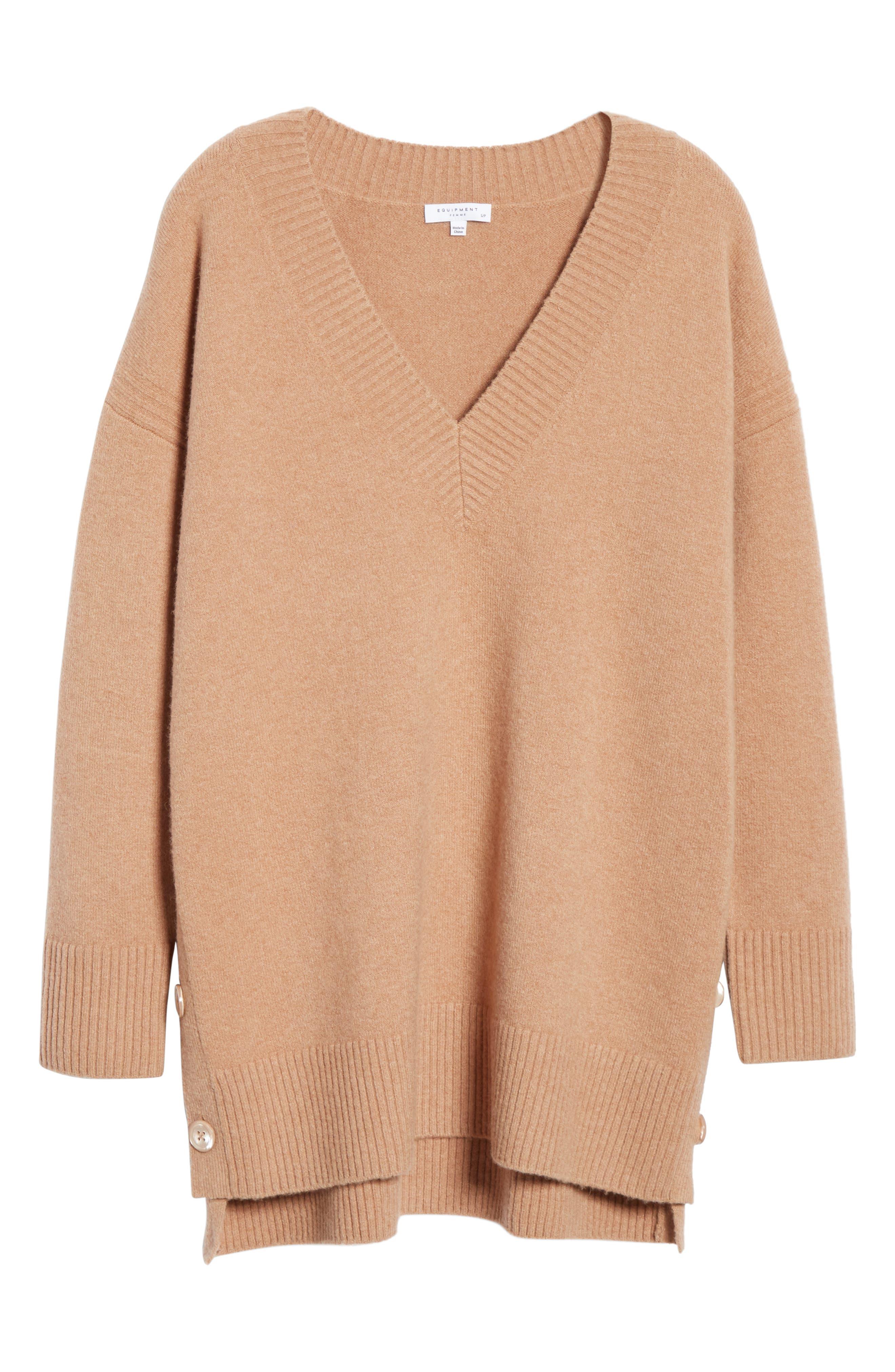 Cortis Merino Wool & Alpaca Blend Sweater,                             Alternate thumbnail 6, color,                             CAMEL