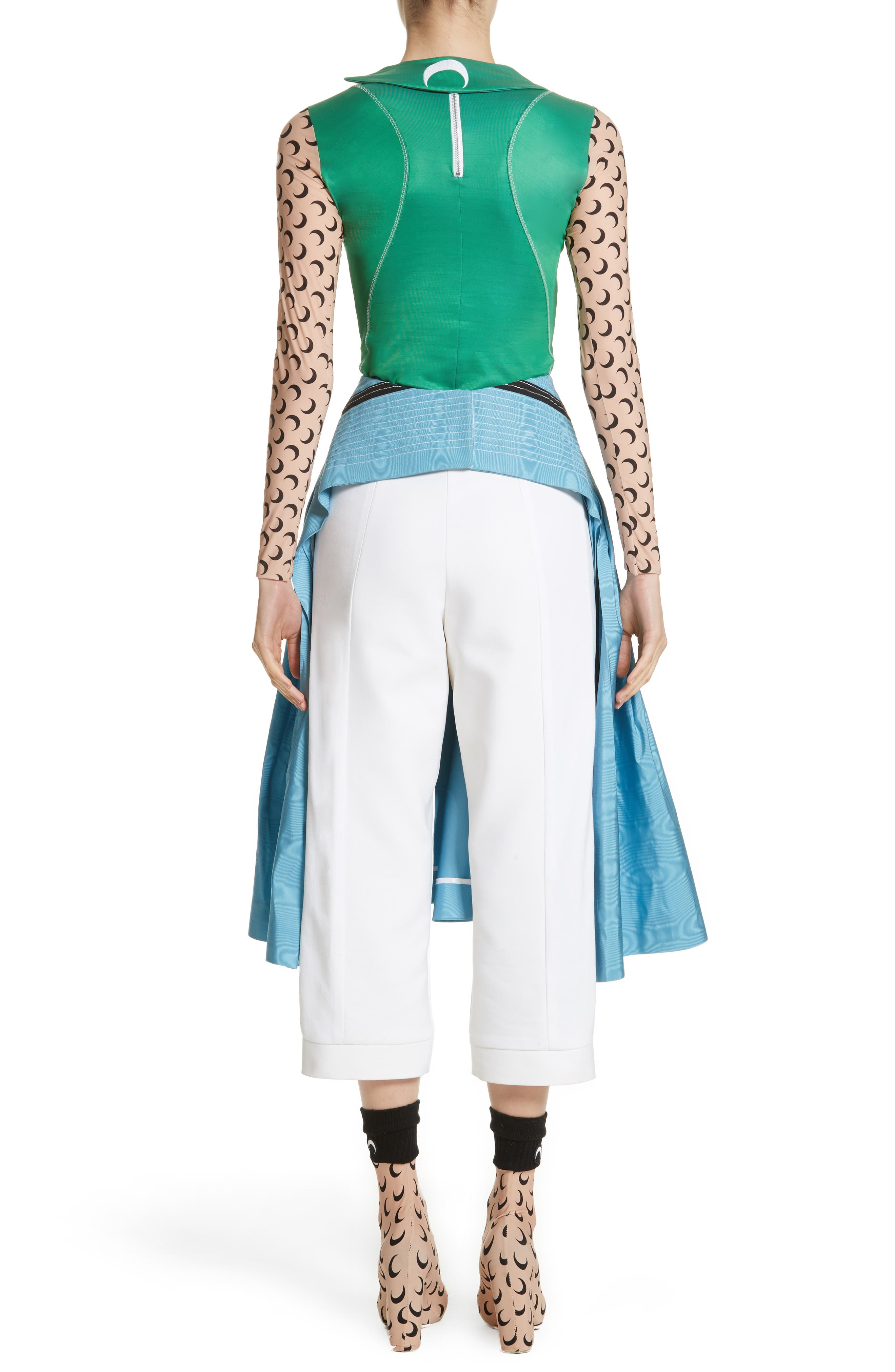 MARINE SERRE,                             Pleated Moiré Dress,                             Main thumbnail 1, color,                             460