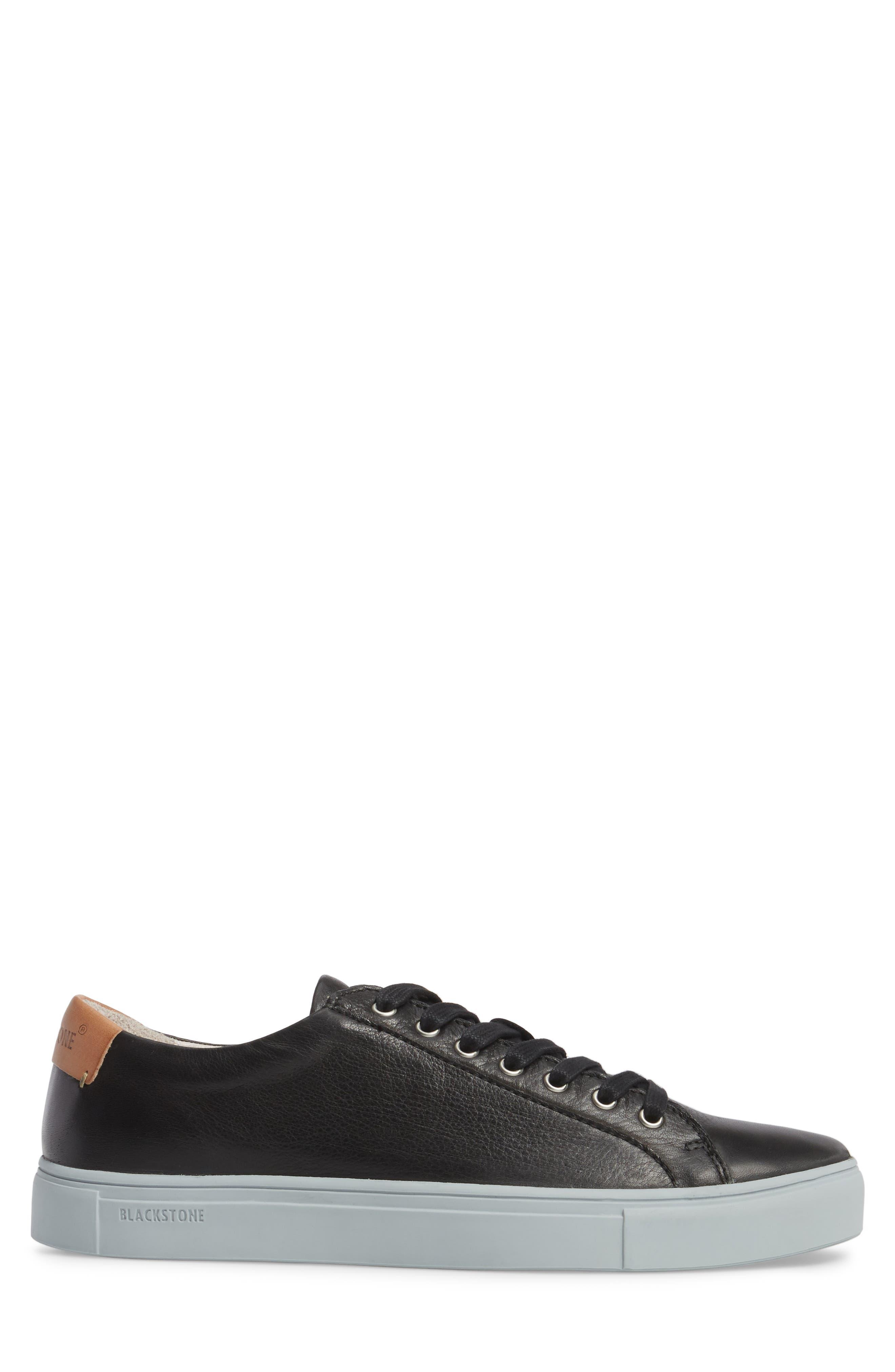 NM01 7 Eyelet Sneaker,                             Alternate thumbnail 3, color,                             BLACK LEATHER