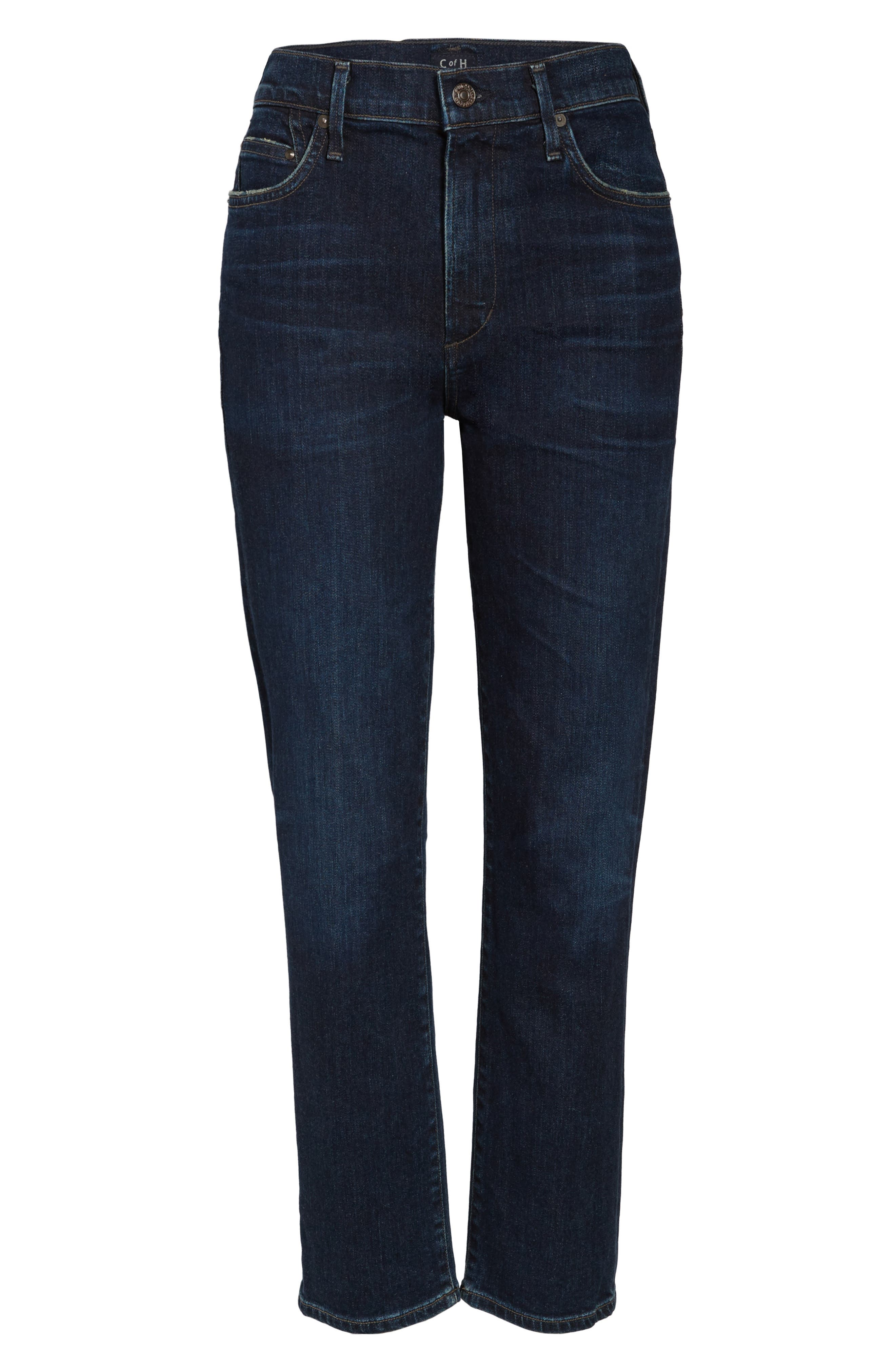Cara Ankle Cigarette Jeans,                             Alternate thumbnail 7, color,                             401