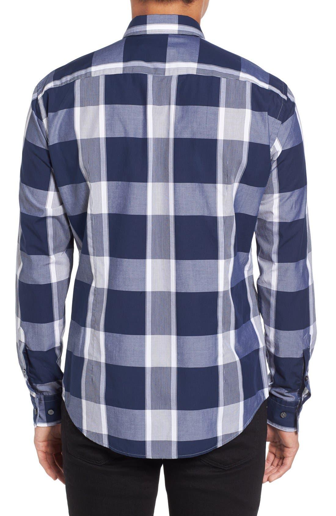 Trim Fit Check Sport Shirt,                             Alternate thumbnail 2, color,                             402
