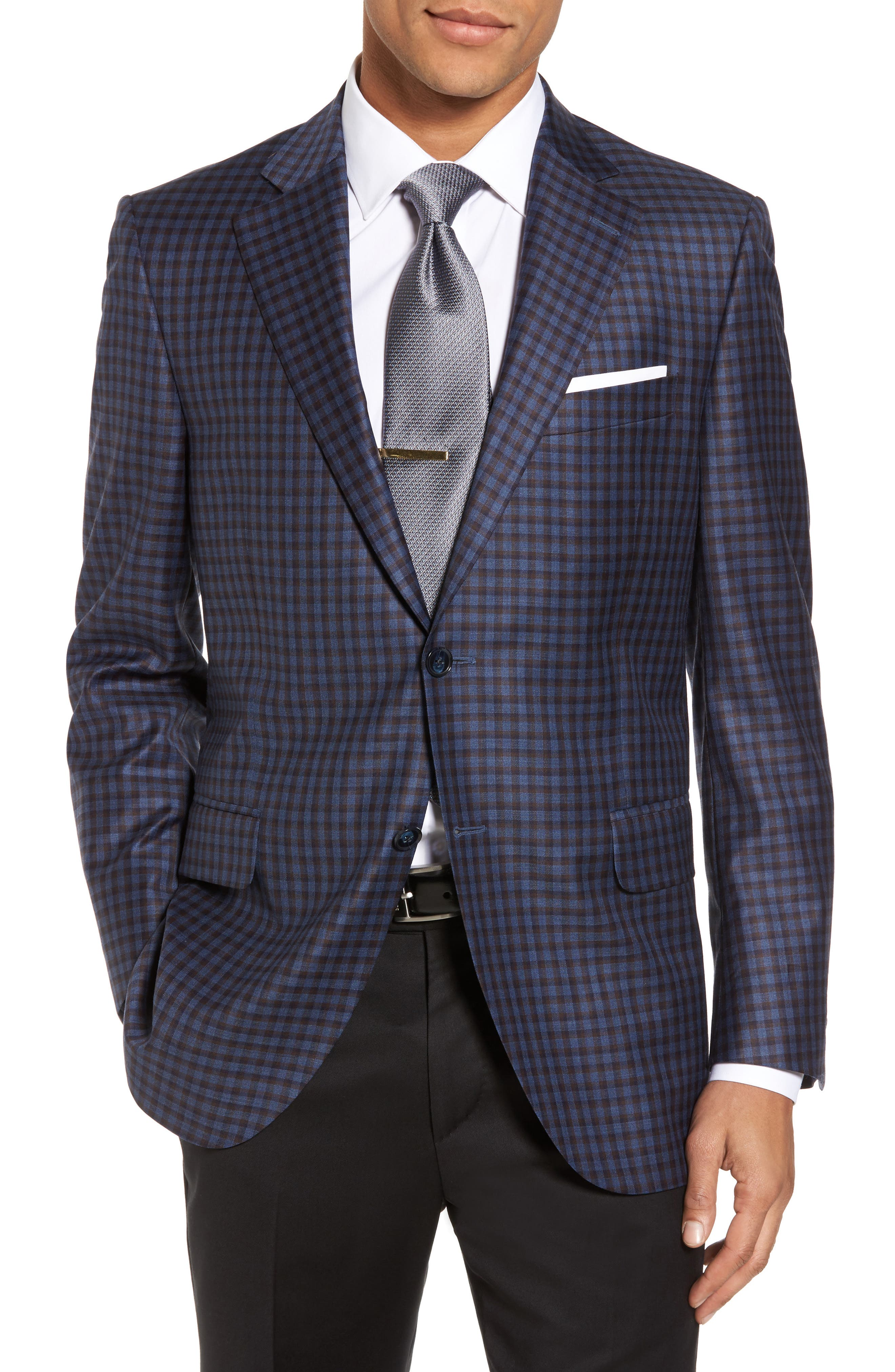 Classic Fit Check Wool Sport Coat,                         Main,                         color, 400
