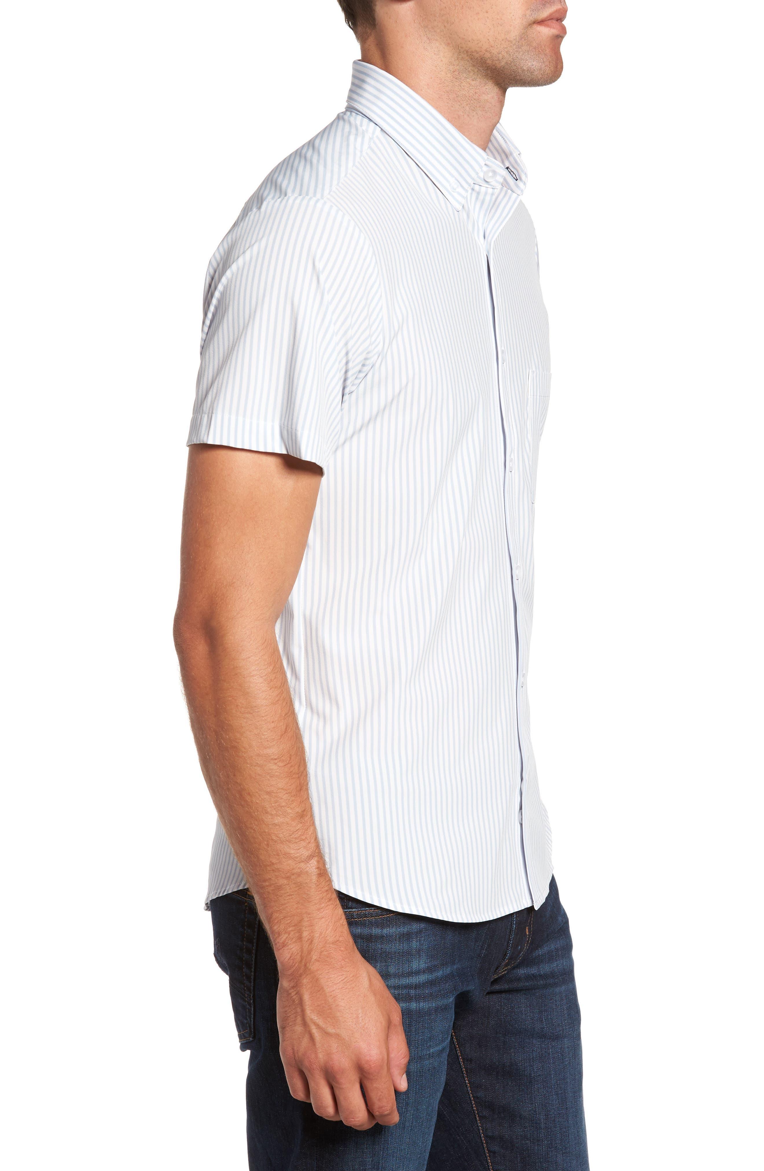 St. Elias Stripe Sport Shirt,                             Alternate thumbnail 3, color,                             100