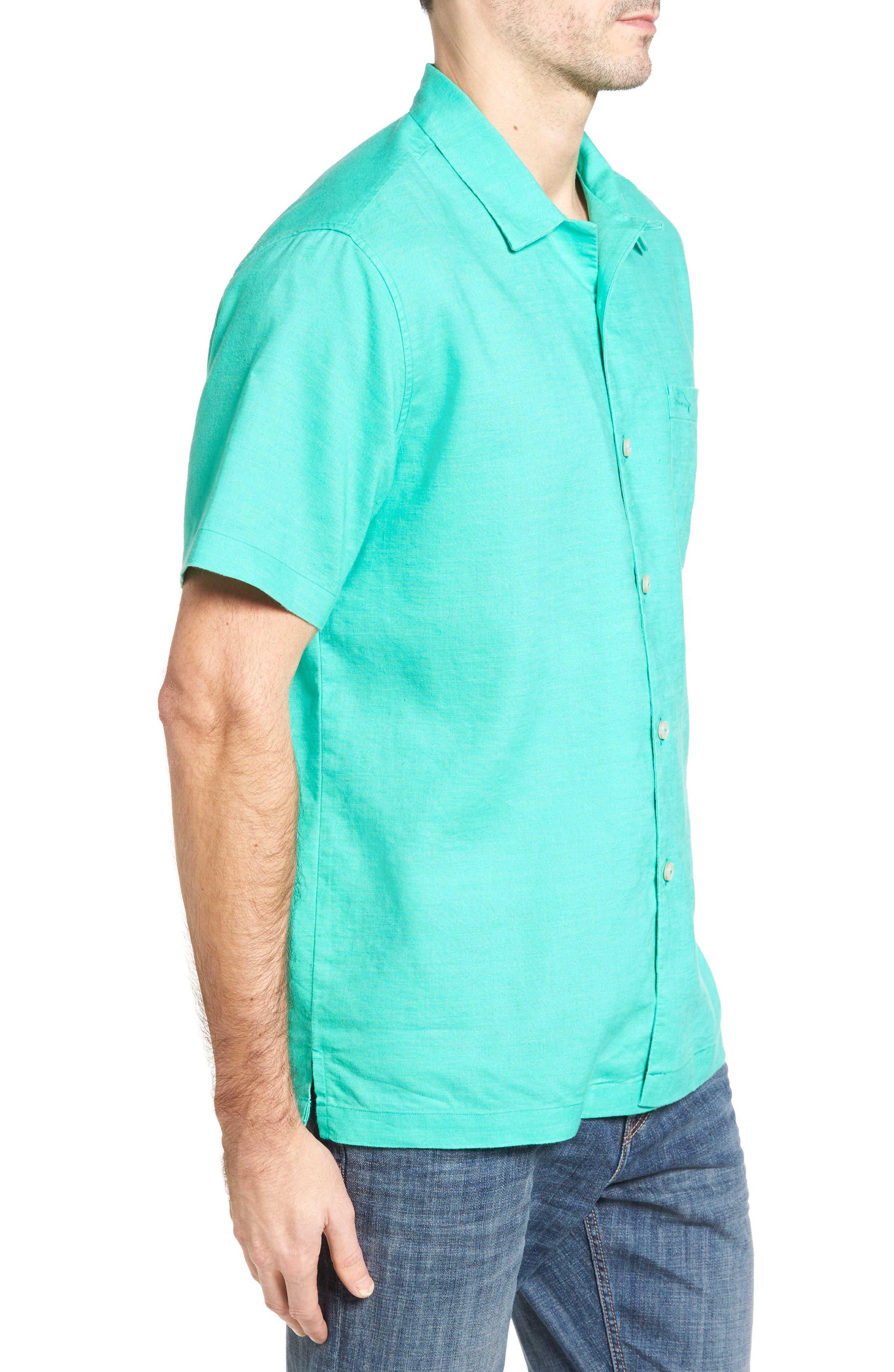 Monaco Tides Standard Fit Linen Blend Camp Shirt,                             Alternate thumbnail 15, color,