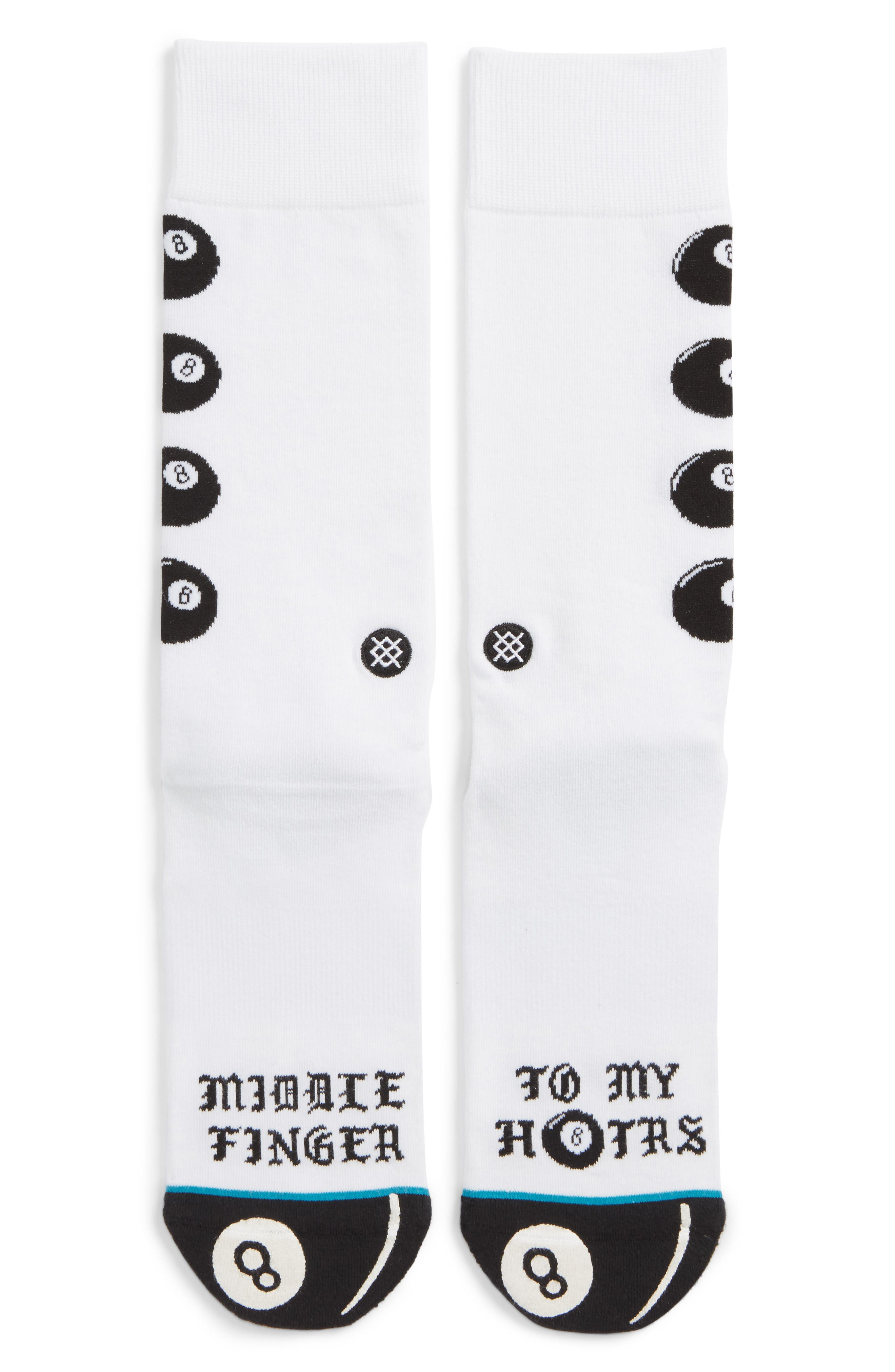 H8ters Socks,                         Main,                         color, WHITE