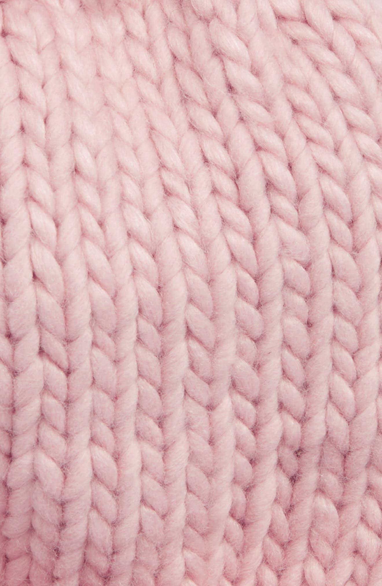 Chunky Knit Pompom Beanie,                             Alternate thumbnail 2, color,                             650