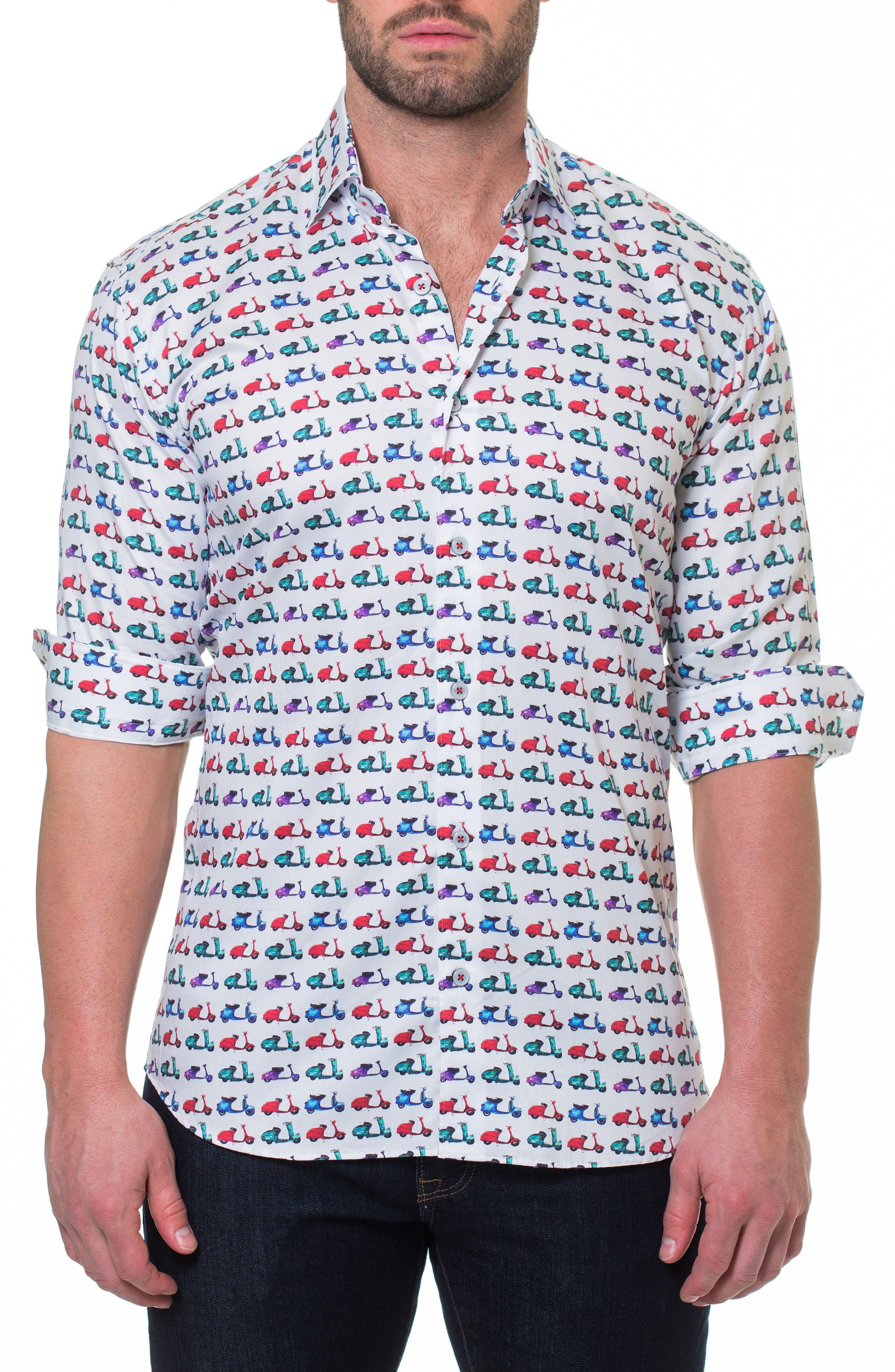 Luxor Vespa Sport Shirt,                             Alternate thumbnail 4, color,                             110