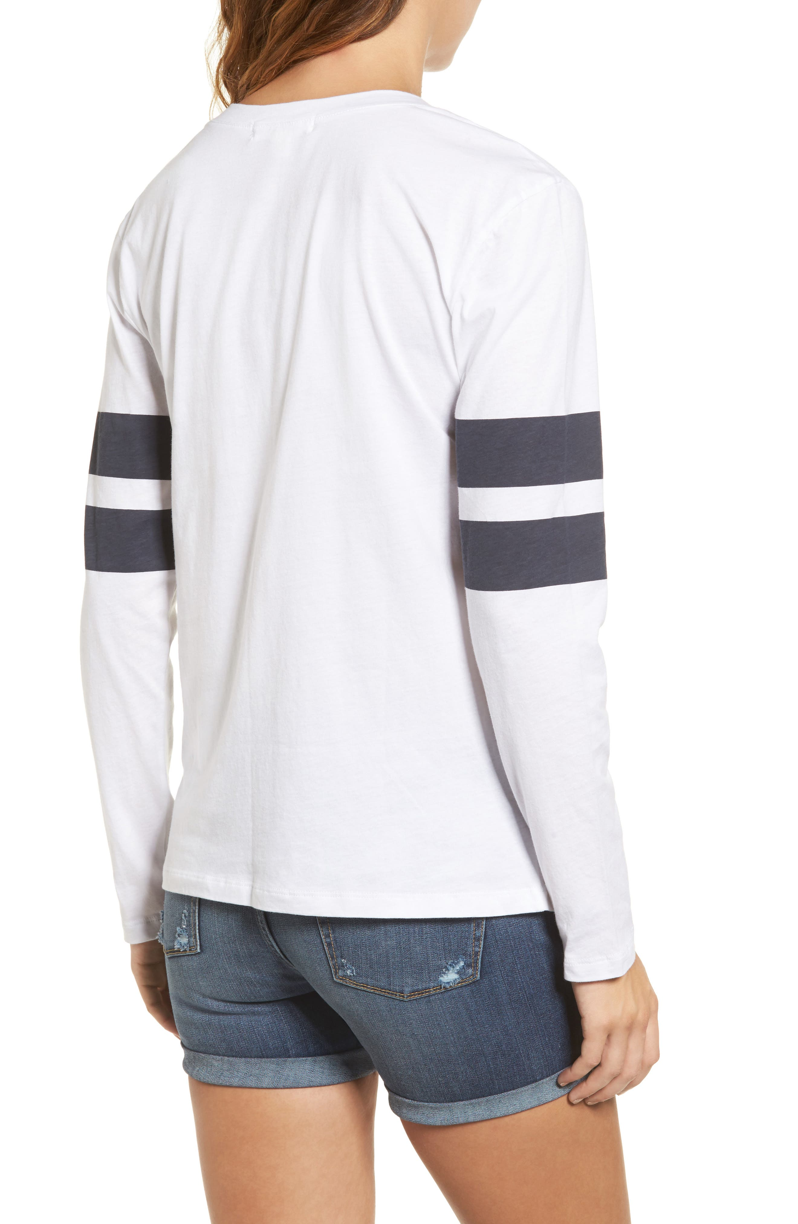 Varsity Stripe Cotton Tee,                             Alternate thumbnail 39, color,