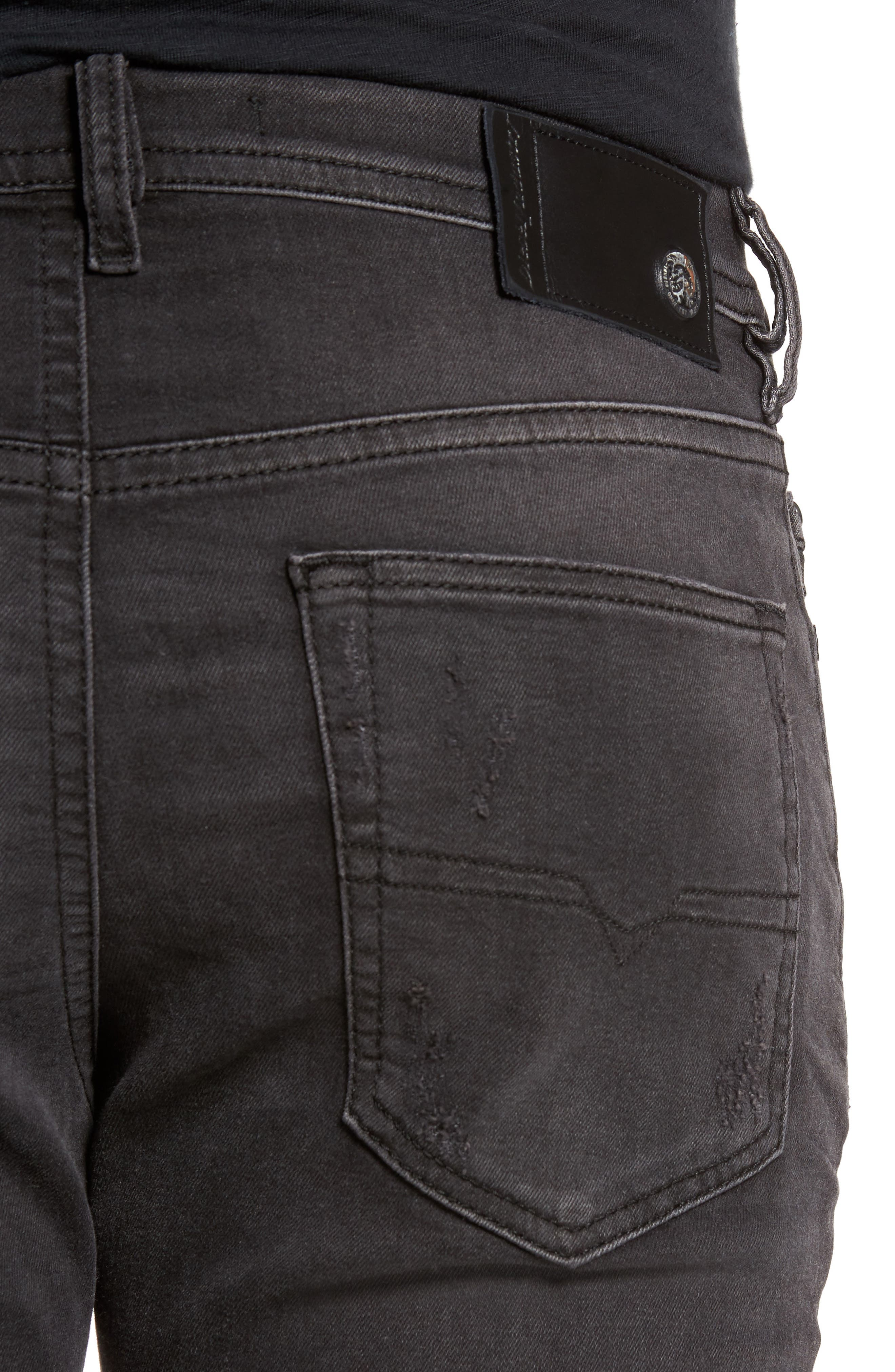 Buster Slim Straight Fit Jeans,                             Alternate thumbnail 4, color,                             008