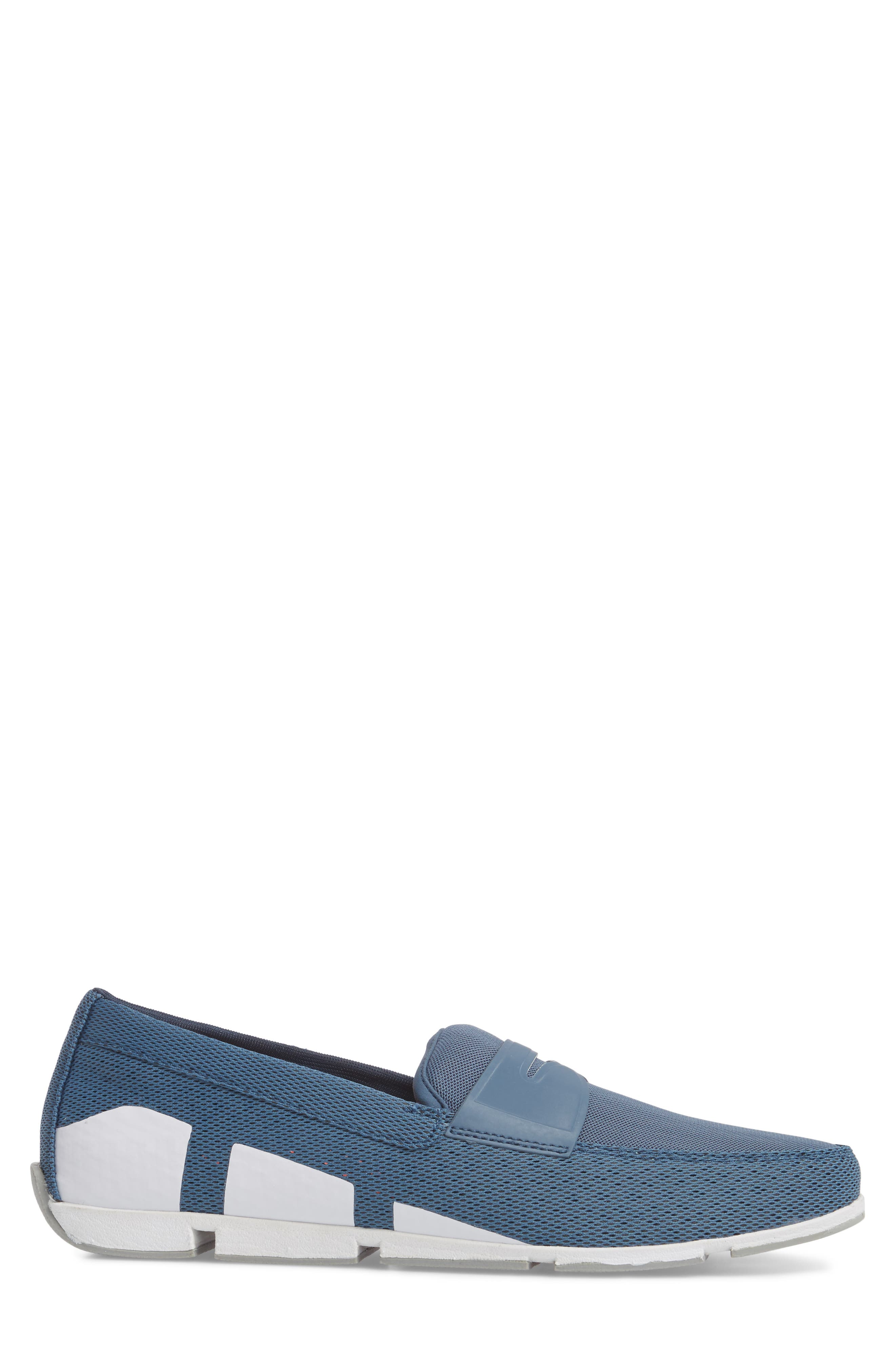 Breeze Penny Loafer,                             Alternate thumbnail 3, color,                             SLATE/ WHITE/ GREY FABRIC