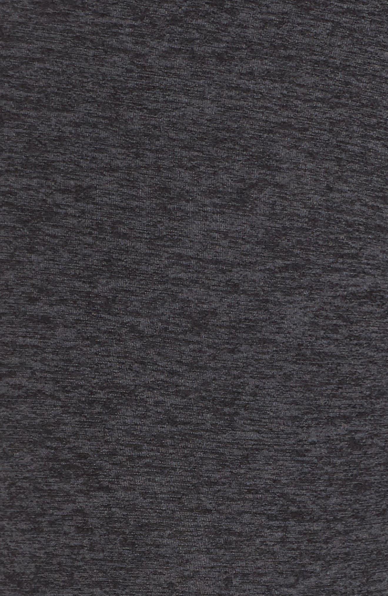 Across the Strap High Waist Leggings,                             Alternate thumbnail 6, color,                             BLACK CHARCOAL