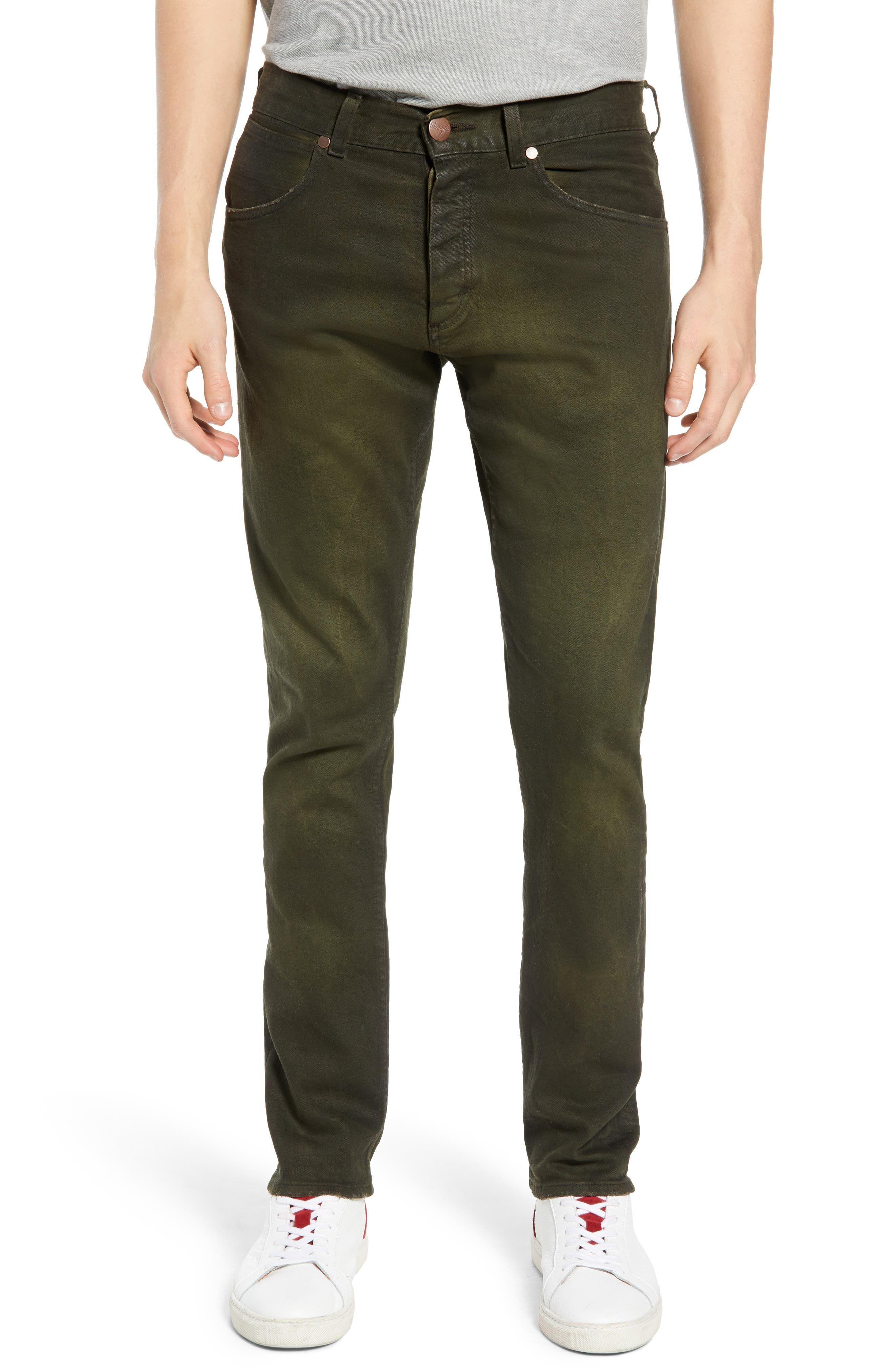 Larston Slim Fit Jeans, Main, color, ROVER GREEN