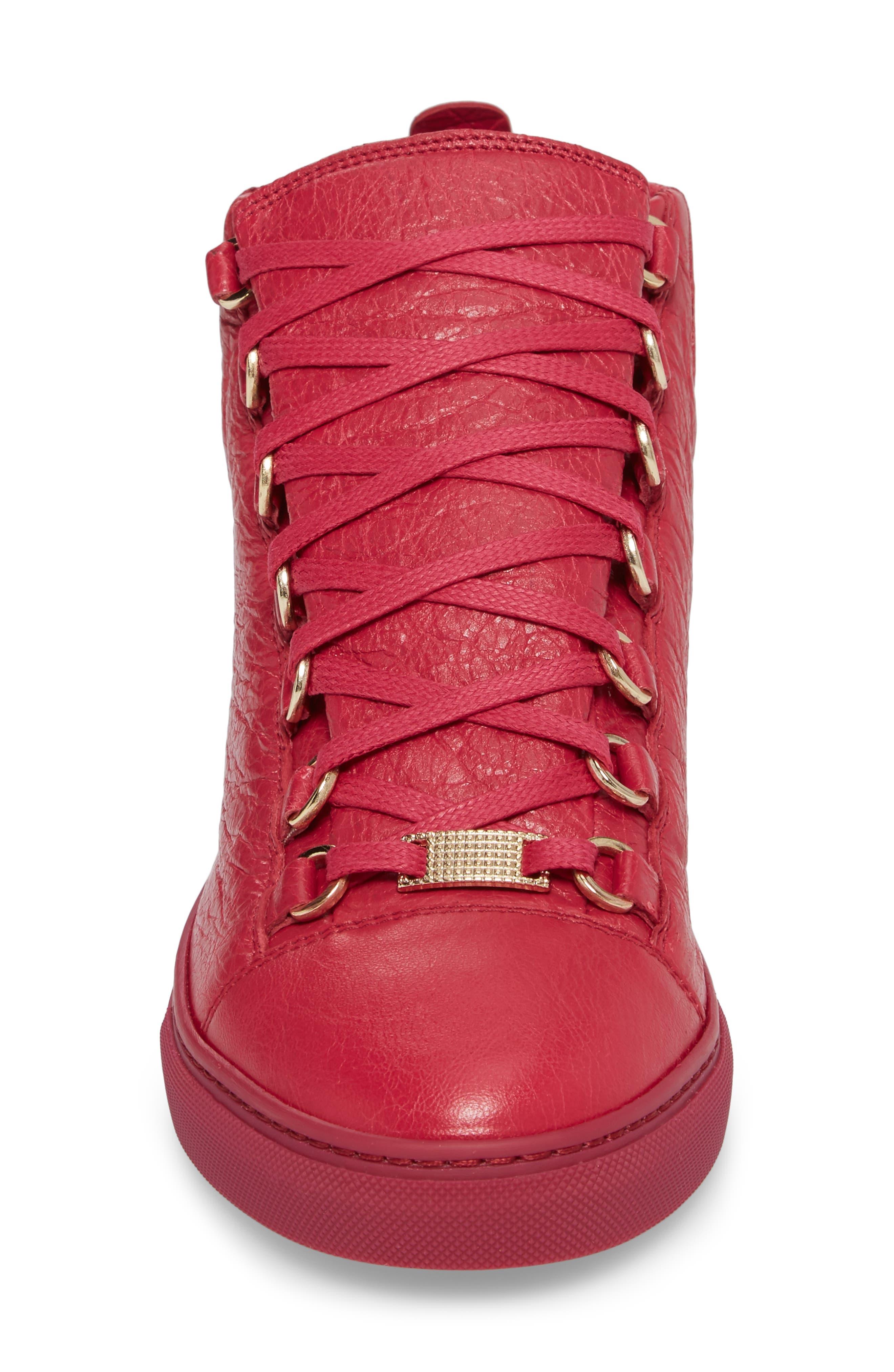 BALENCIAGA,                             High Top Sneaker,                             Alternate thumbnail 4, color,                             600