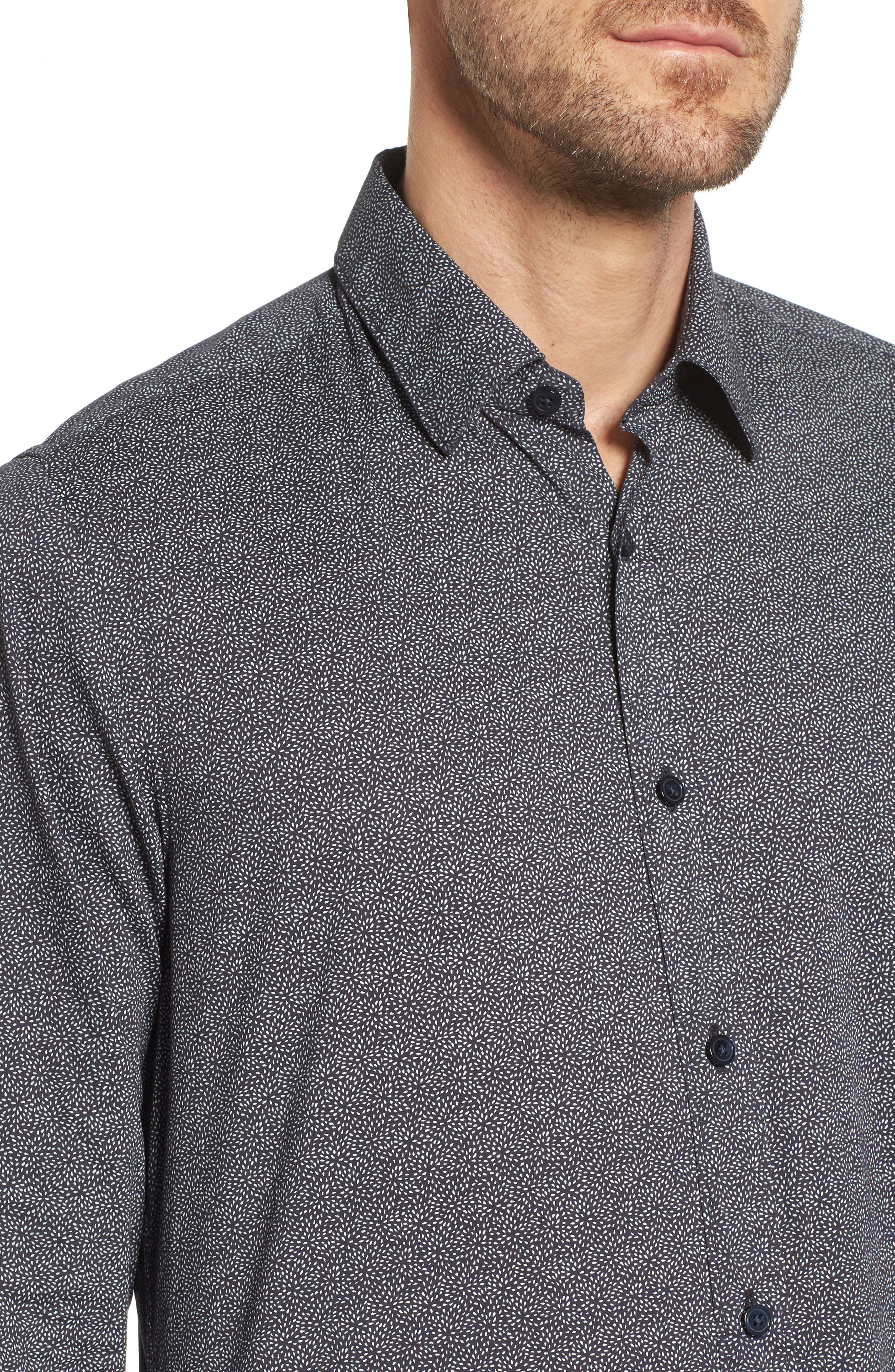 Lukas Regular Fit Print Sport Shirt,                             Alternate thumbnail 4, color,                             410