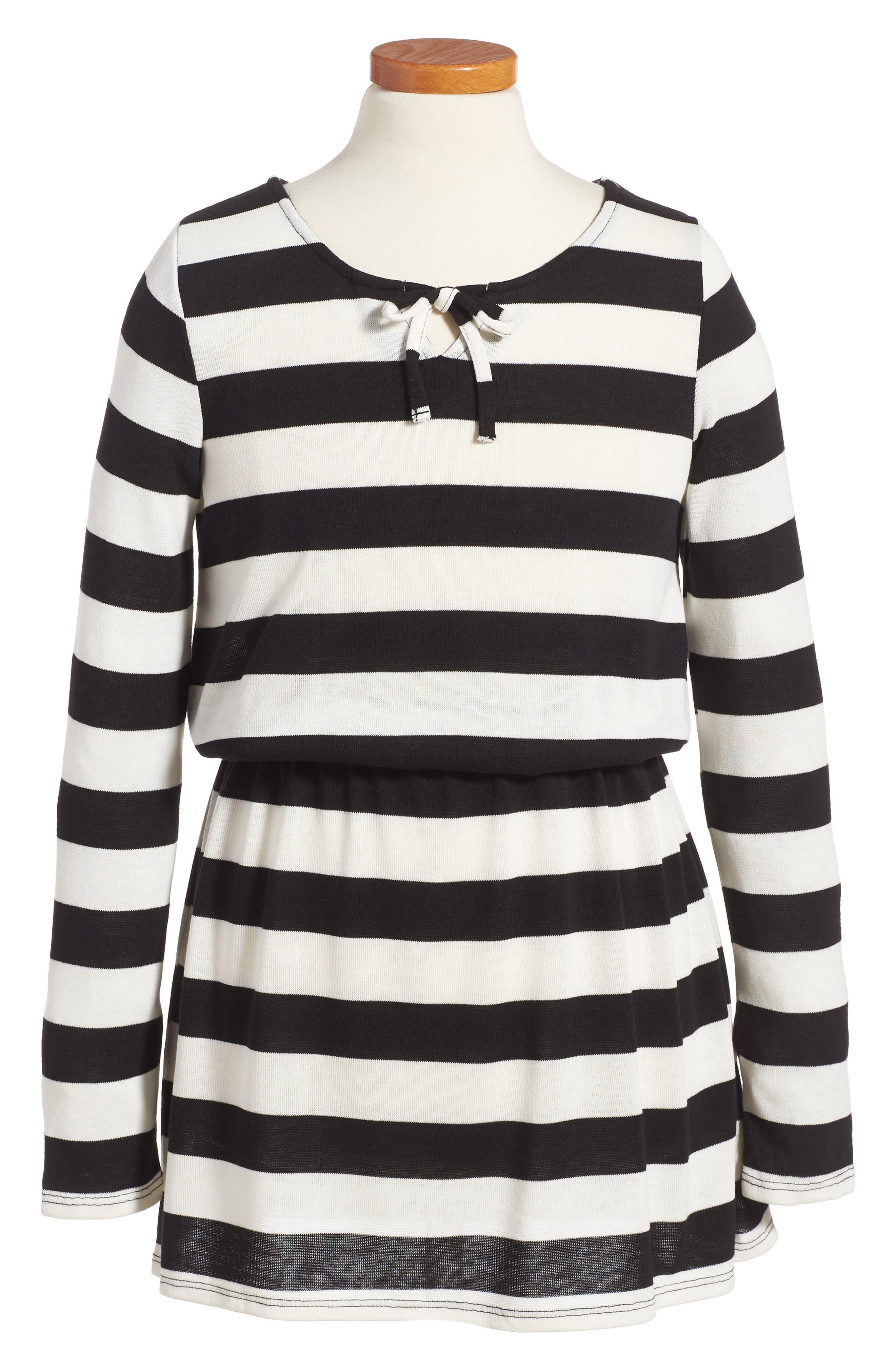 Stripe Knit Dress,                             Main thumbnail 1, color,                             100