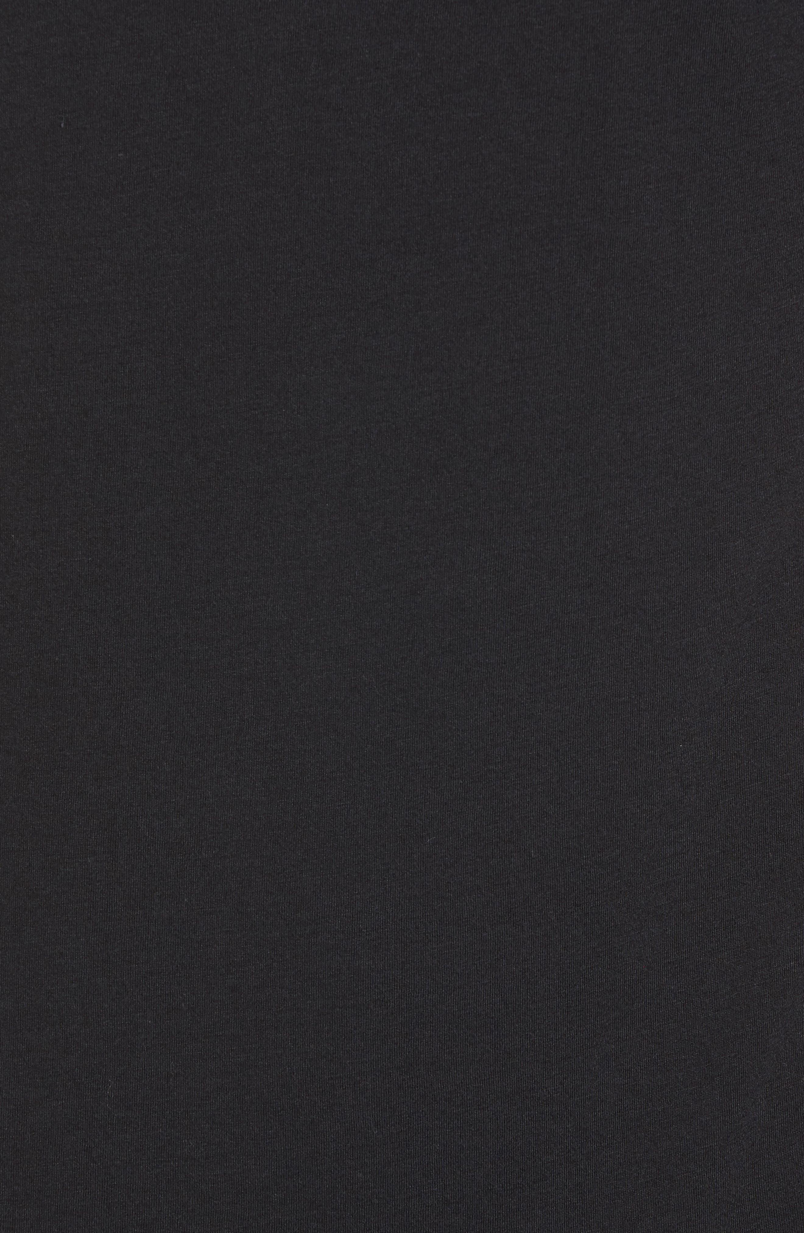 The Triumph Crewneck T-Shirt,                             Alternate thumbnail 5, color,                             SOLID BLACK TRIBLEND