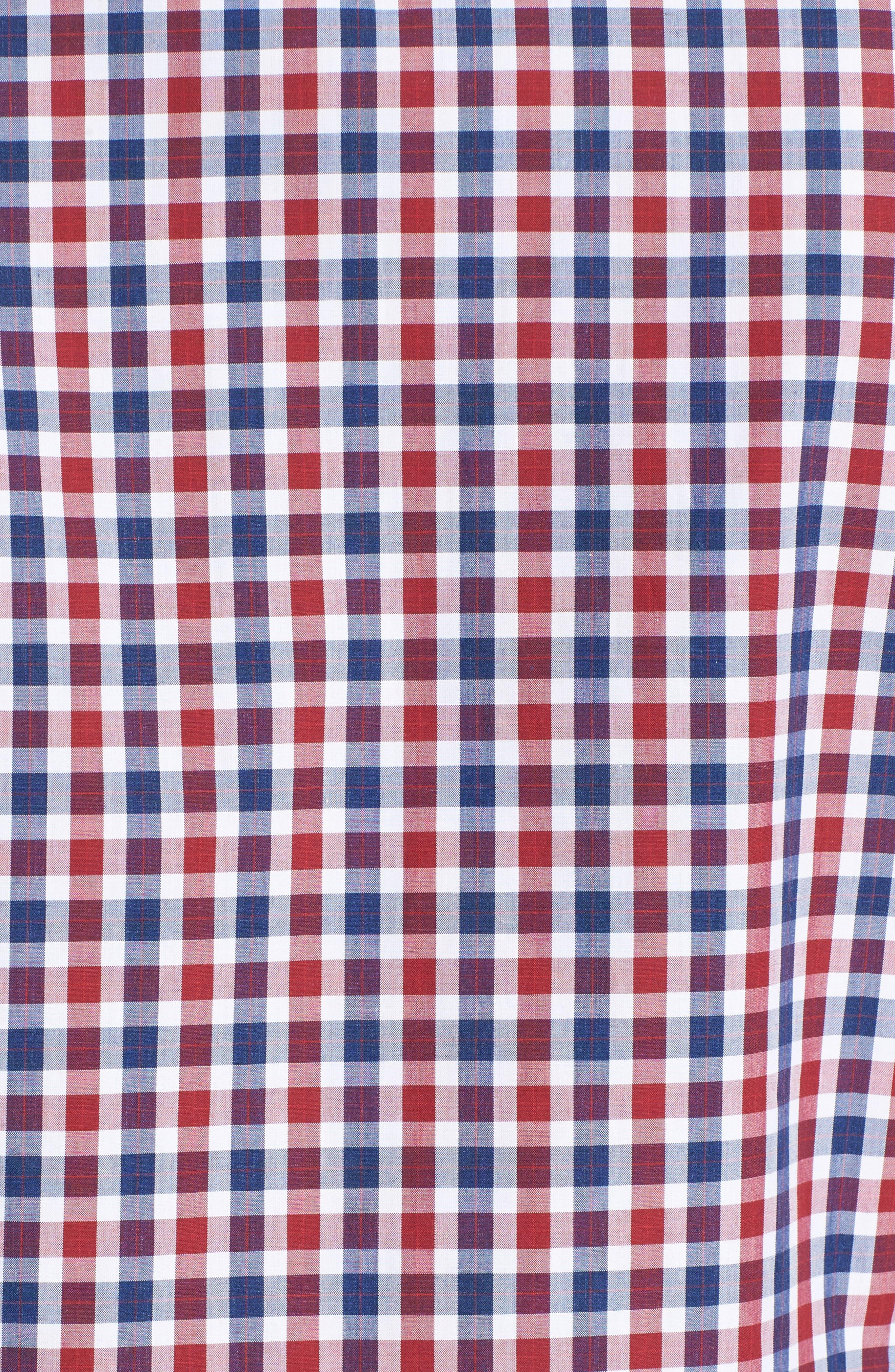 Slim Fit Check Sport Shirt,                             Alternate thumbnail 5, color,                             624
