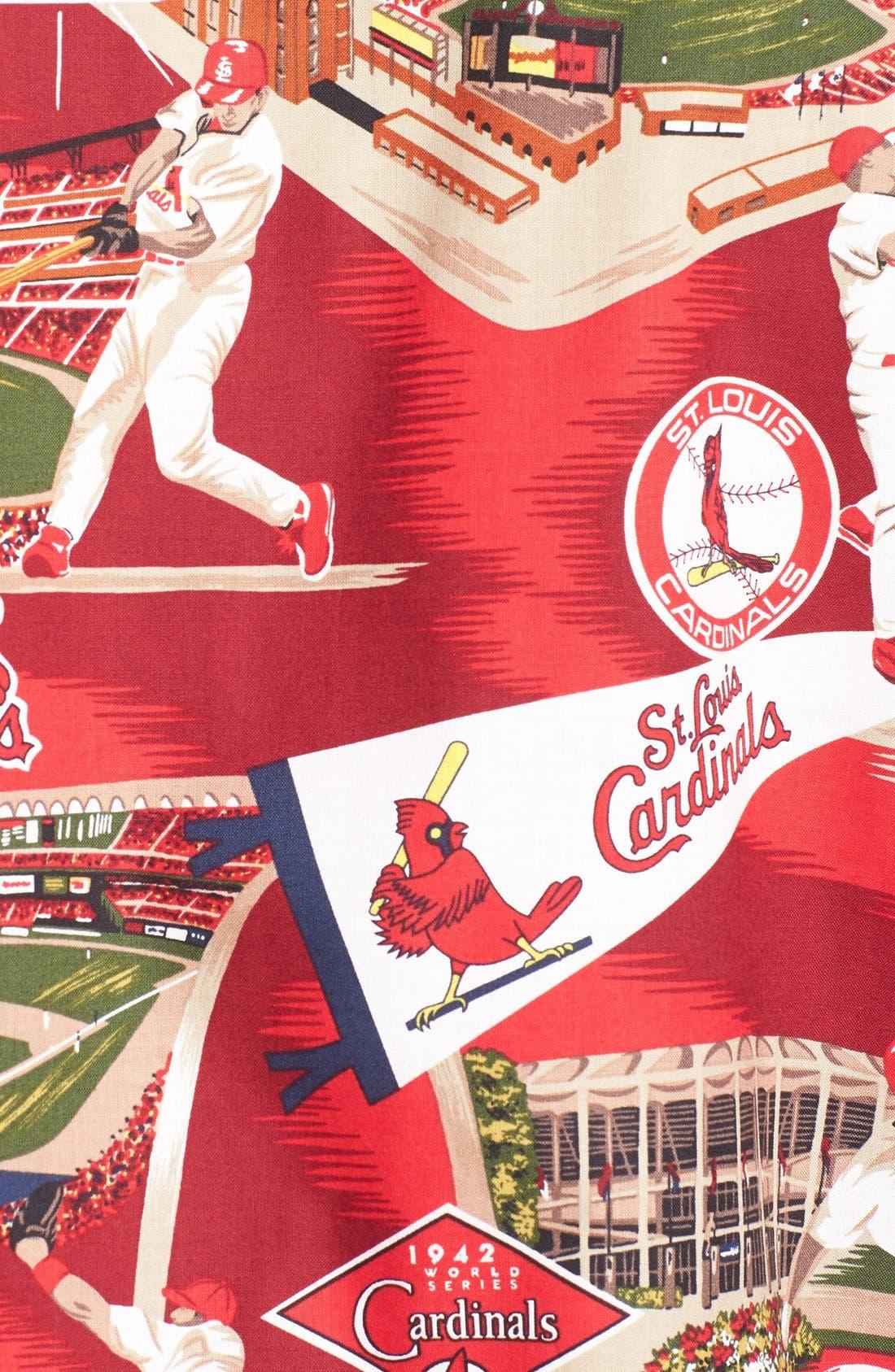 'St. Louis Cardinals' Print Camp Shirt,                             Alternate thumbnail 3, color,                             600