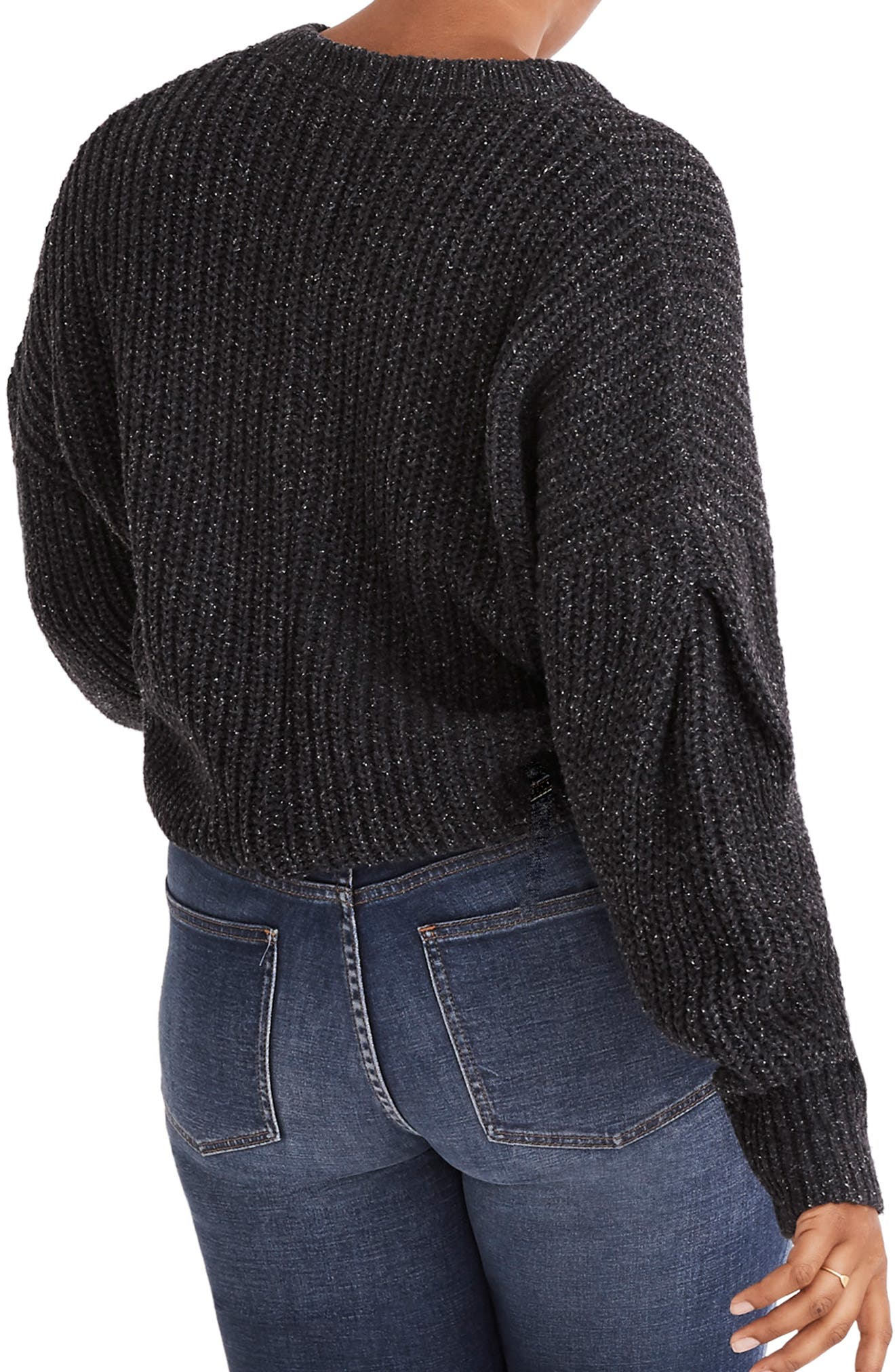 Pleat Sleeve Pullover Sweater,                             Alternate thumbnail 6, color,                             021